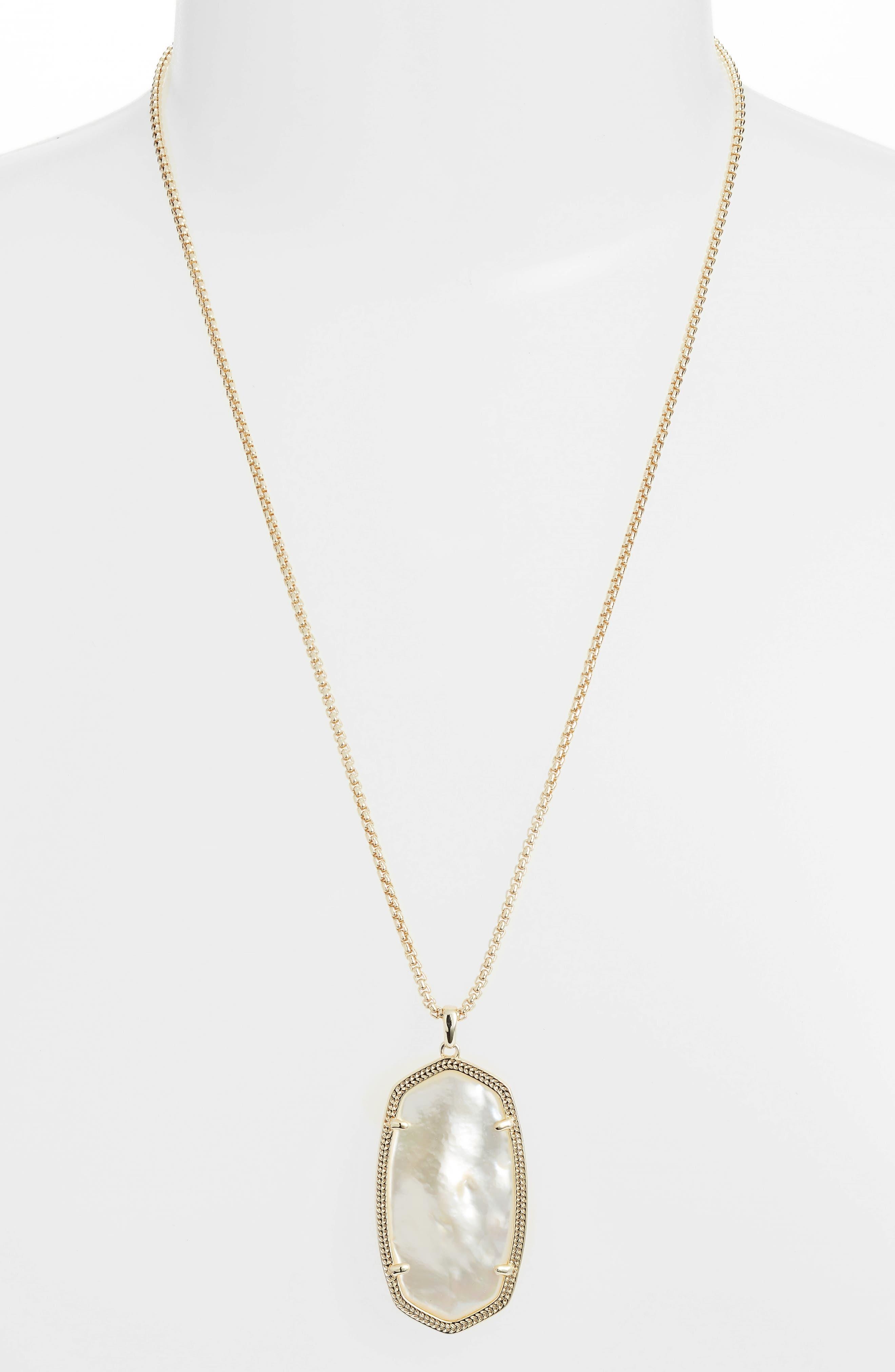Reid Necklace,                         Main,                         color, Ivory Mop/ Gold