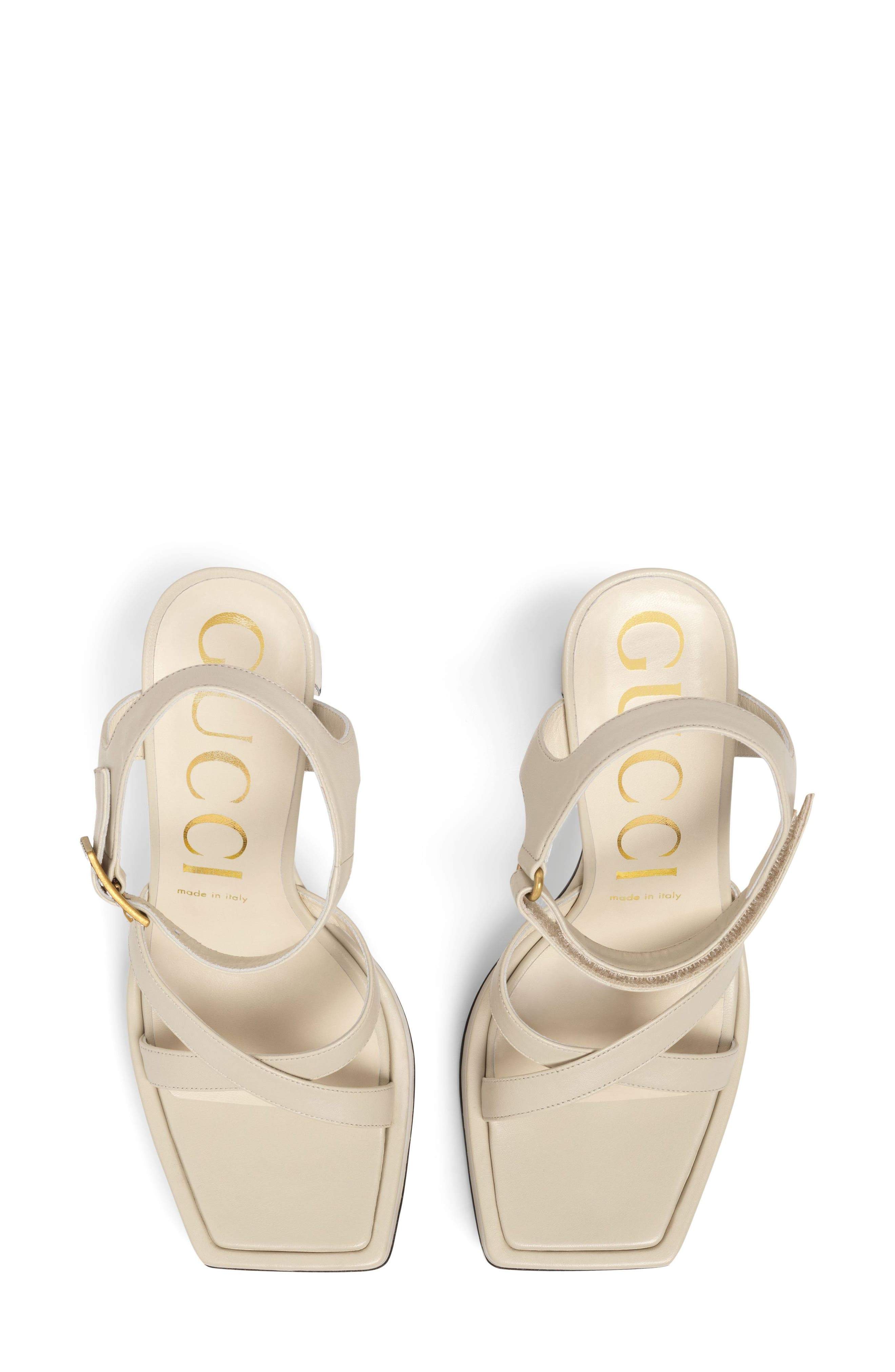 Costanze Platform Sandal,                             Alternate thumbnail 4, color,                             White