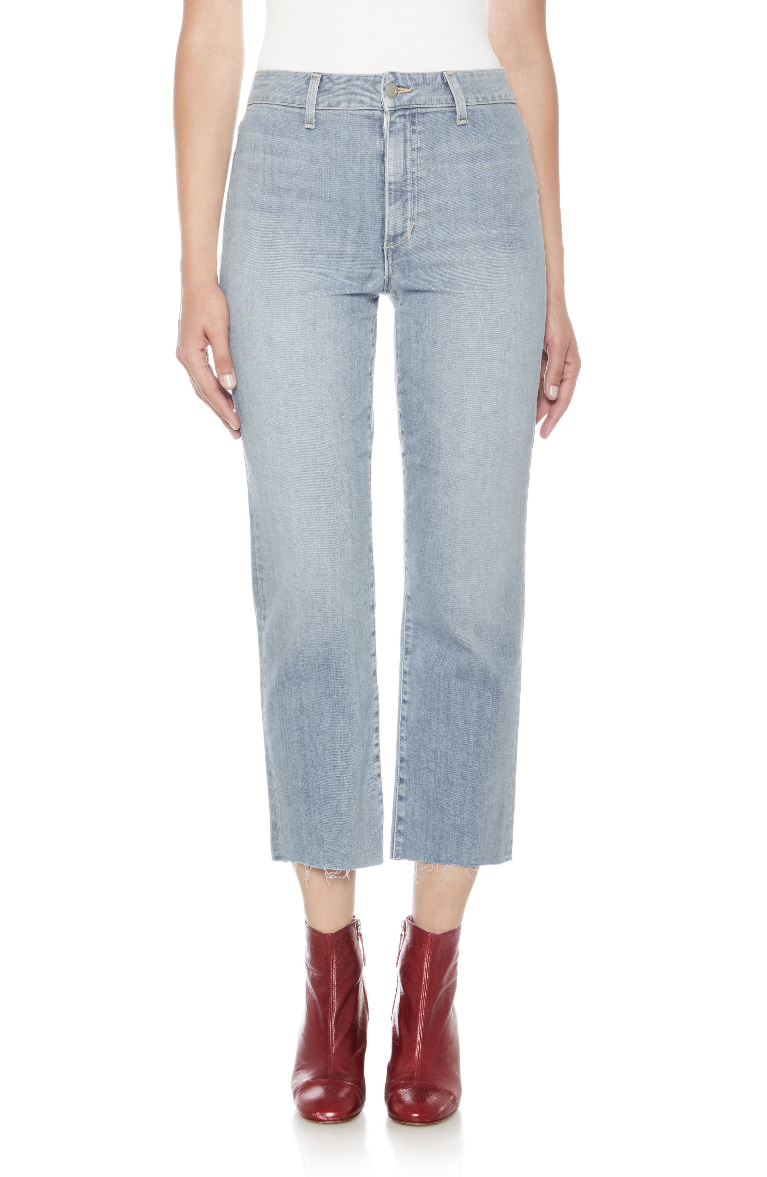 Jane High Waist Crop Boyfriend Jeans,                             Main thumbnail 1, color,                             Dezirae