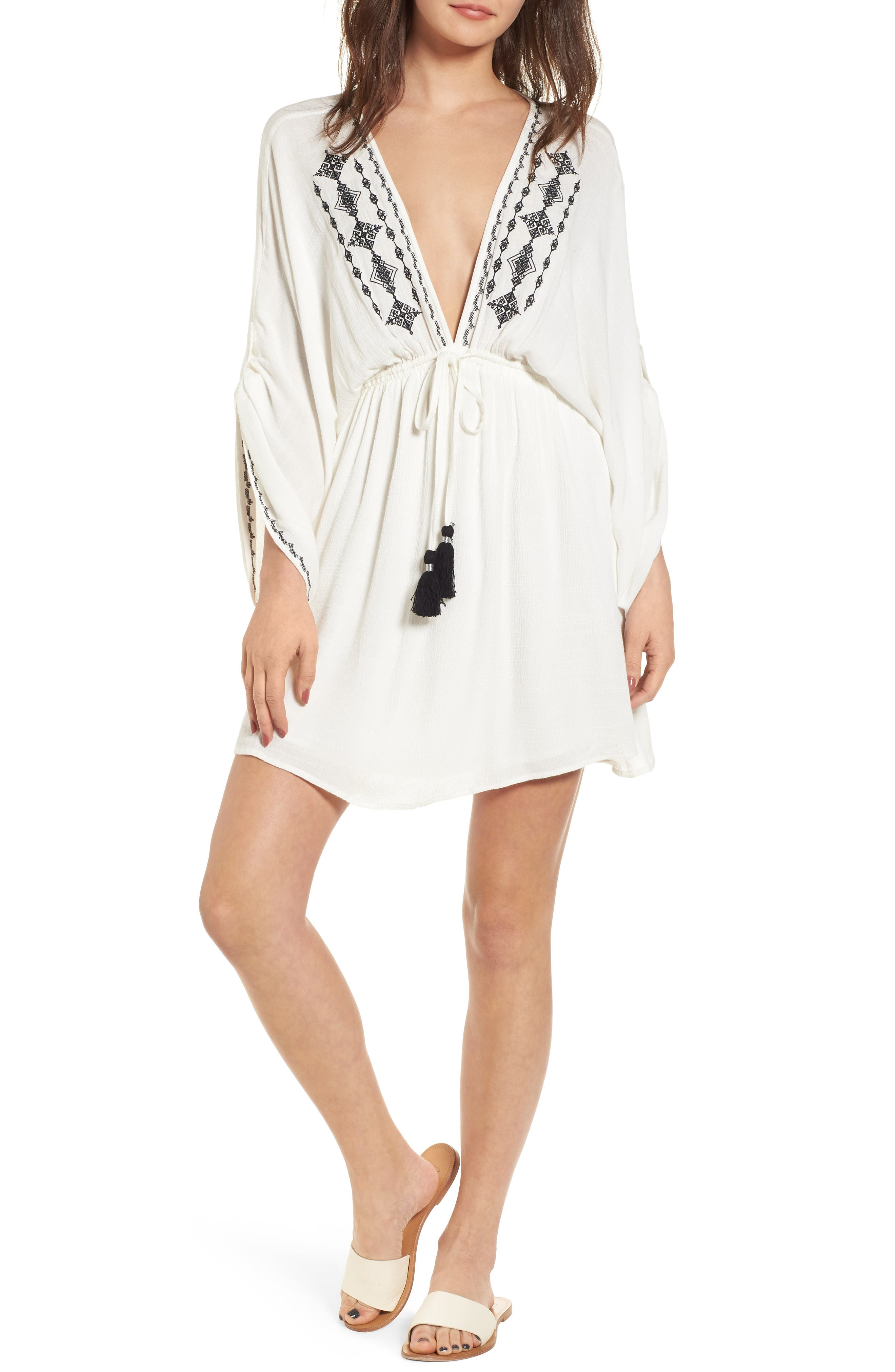 Festival Embroidered Dress,                             Main thumbnail 1, color,                             White