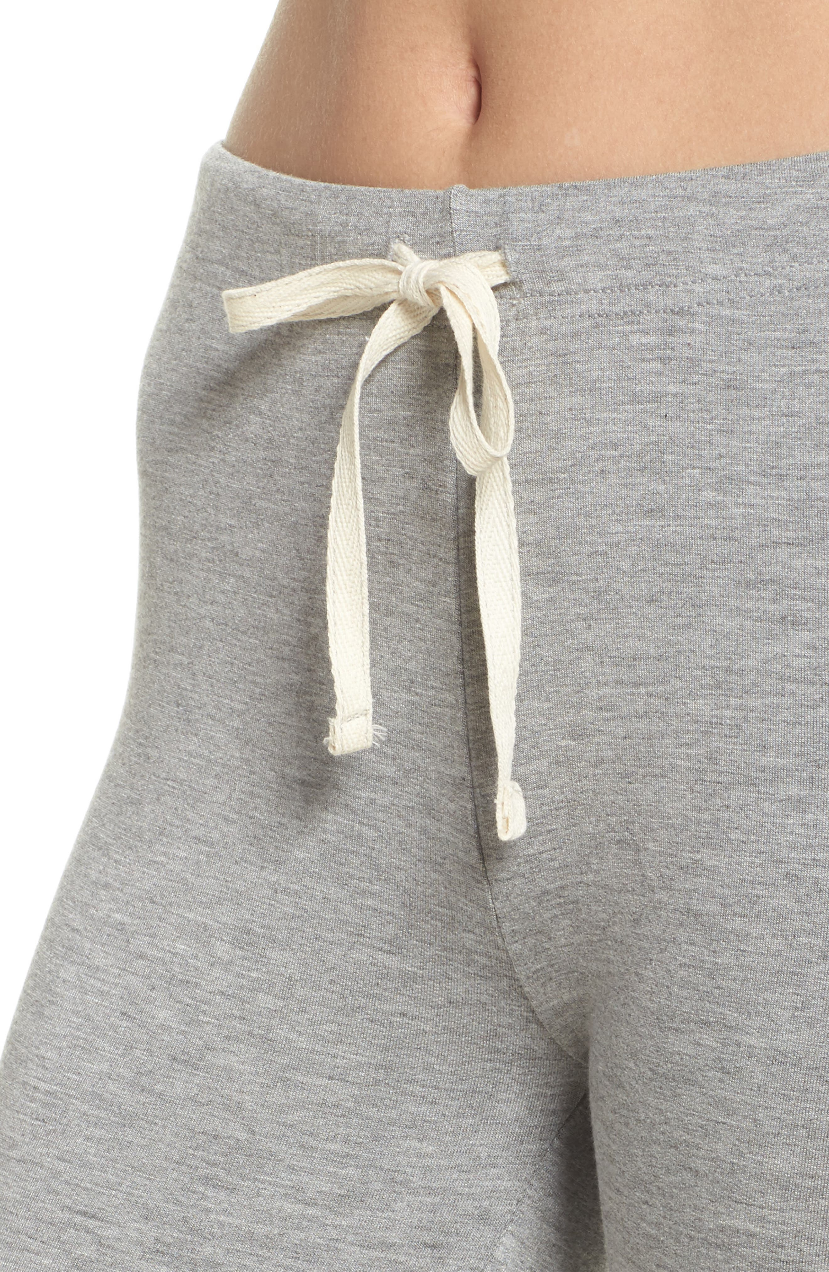 Kickin' It French Terry Lounge Pants,                             Alternate thumbnail 4, color,                             Heather Grey