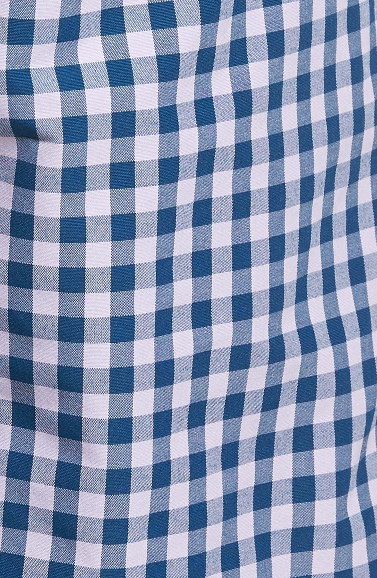 Gingham 5-Inch Swim Trunks,                             Alternate thumbnail 5, color,                             Gulfstream Gingham Blue