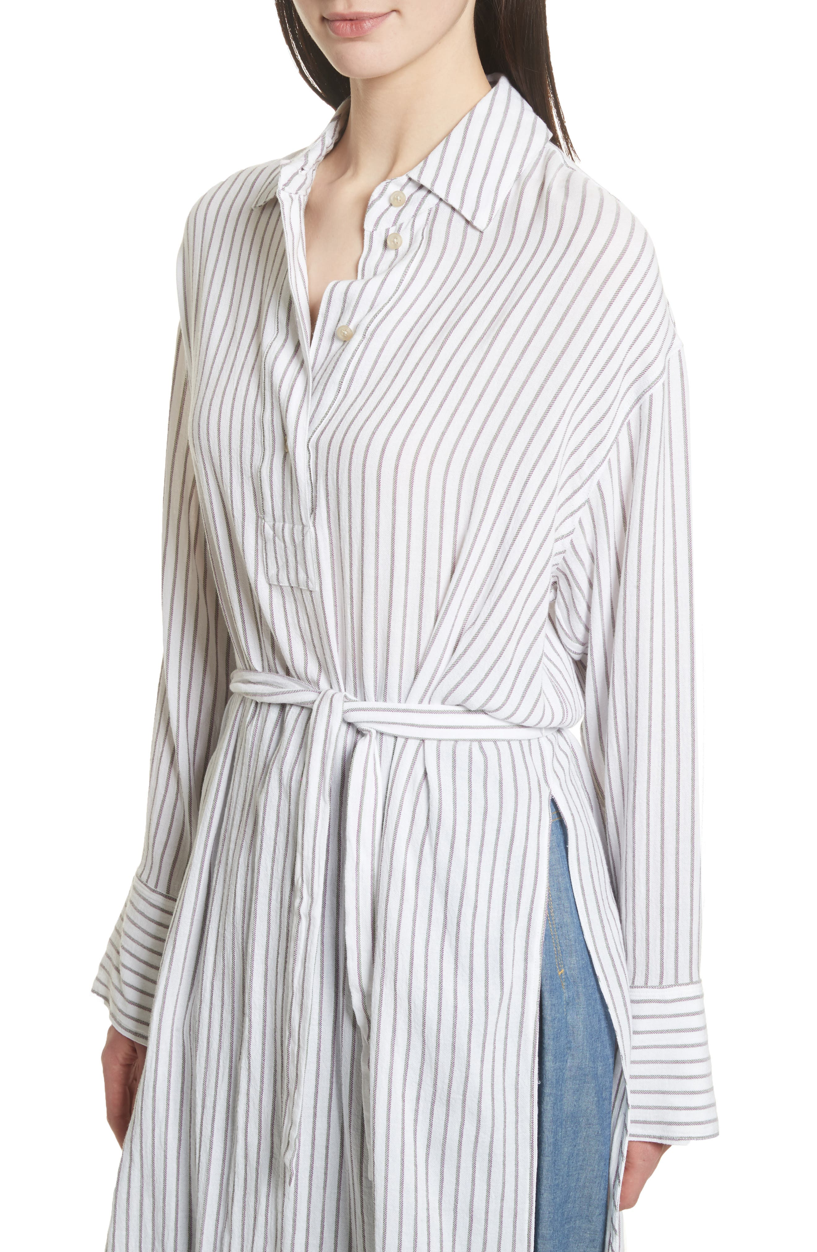 Tawerence Stripe Belted Tunic,                             Alternate thumbnail 5, color,                             Multi