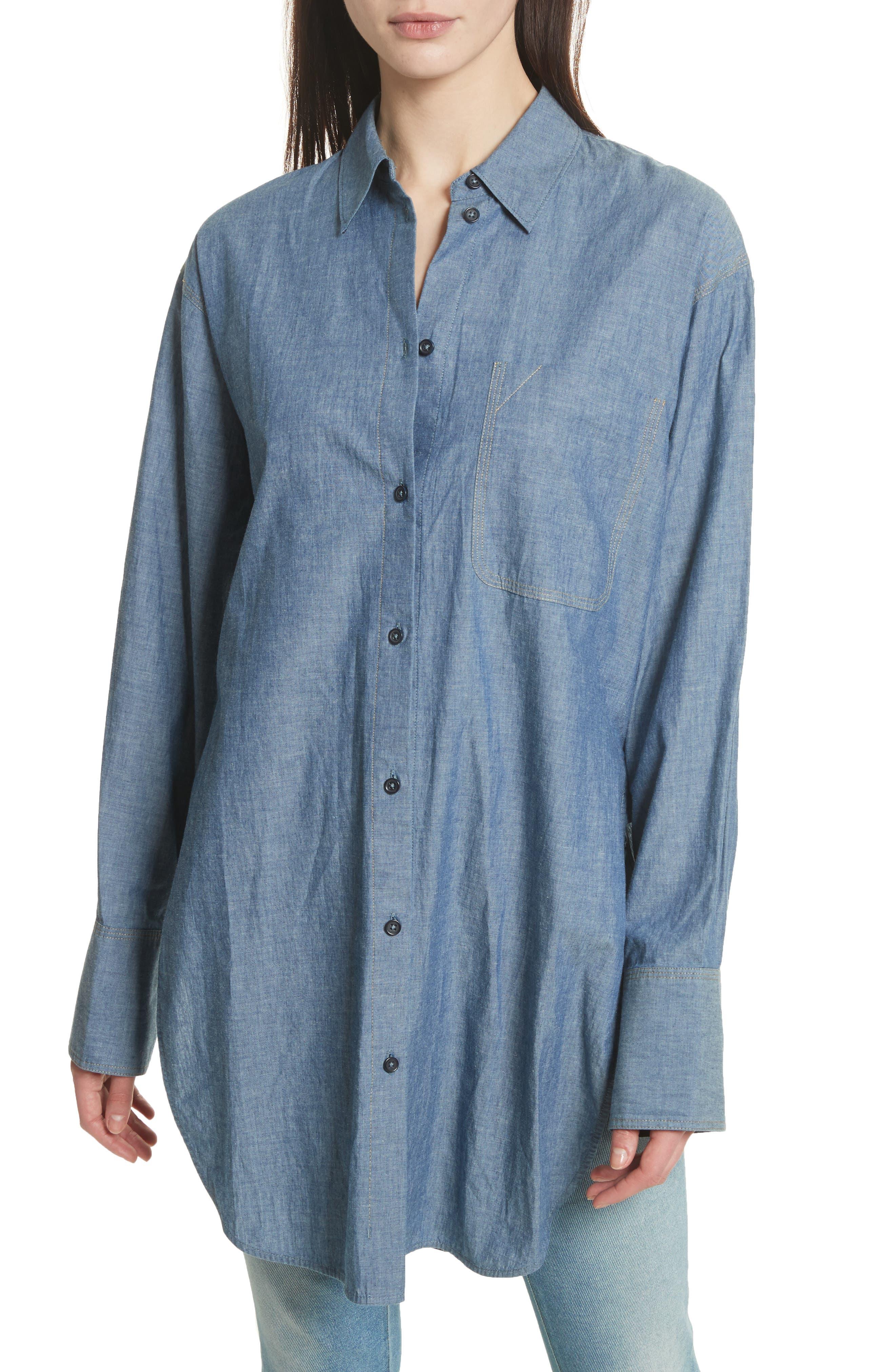 Elizabeth and James Ryder Oversize Denim Shirt