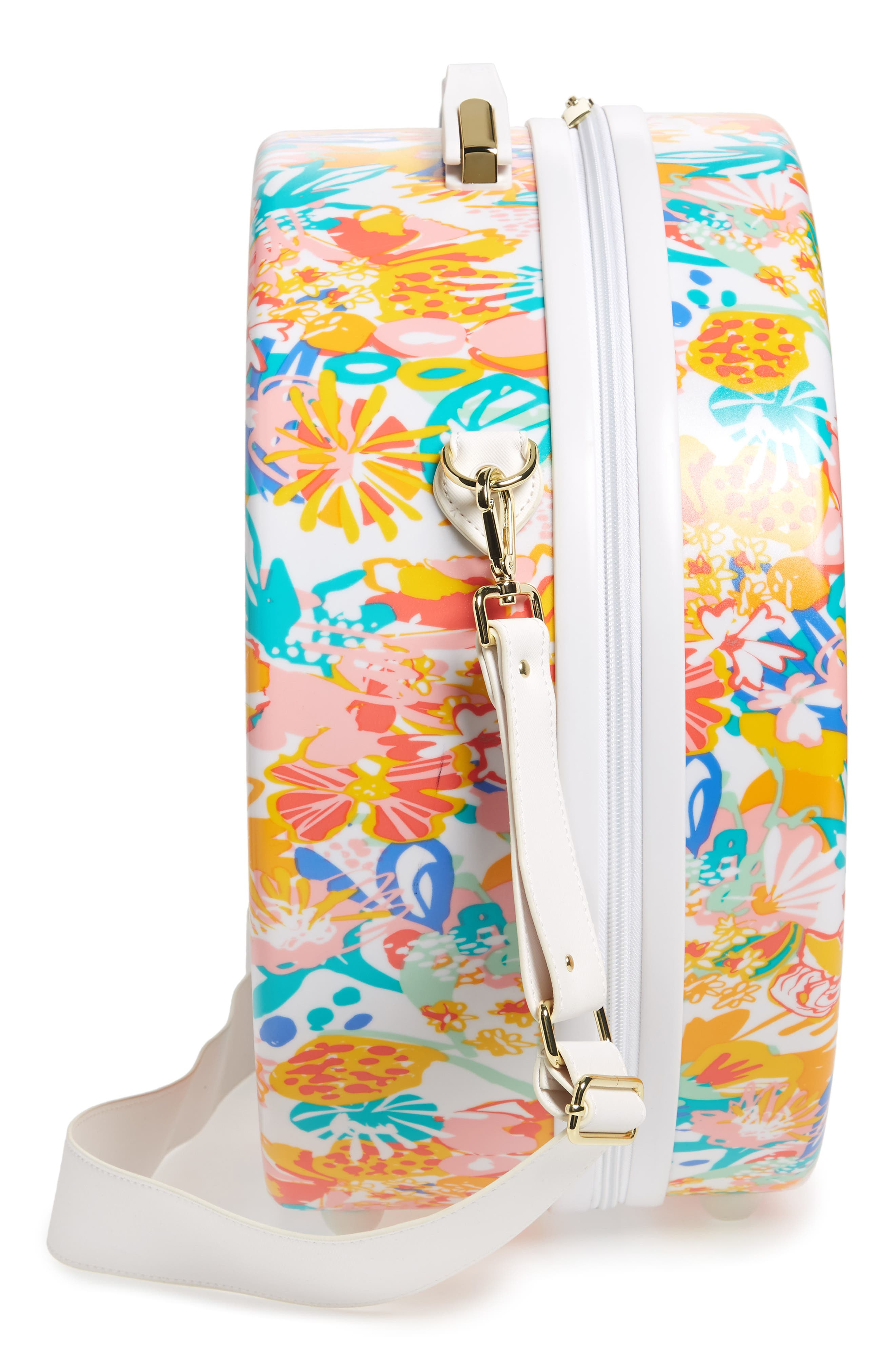 Baye Medium Hardcase Hat Box,                             Alternate thumbnail 4, color,                             Floral