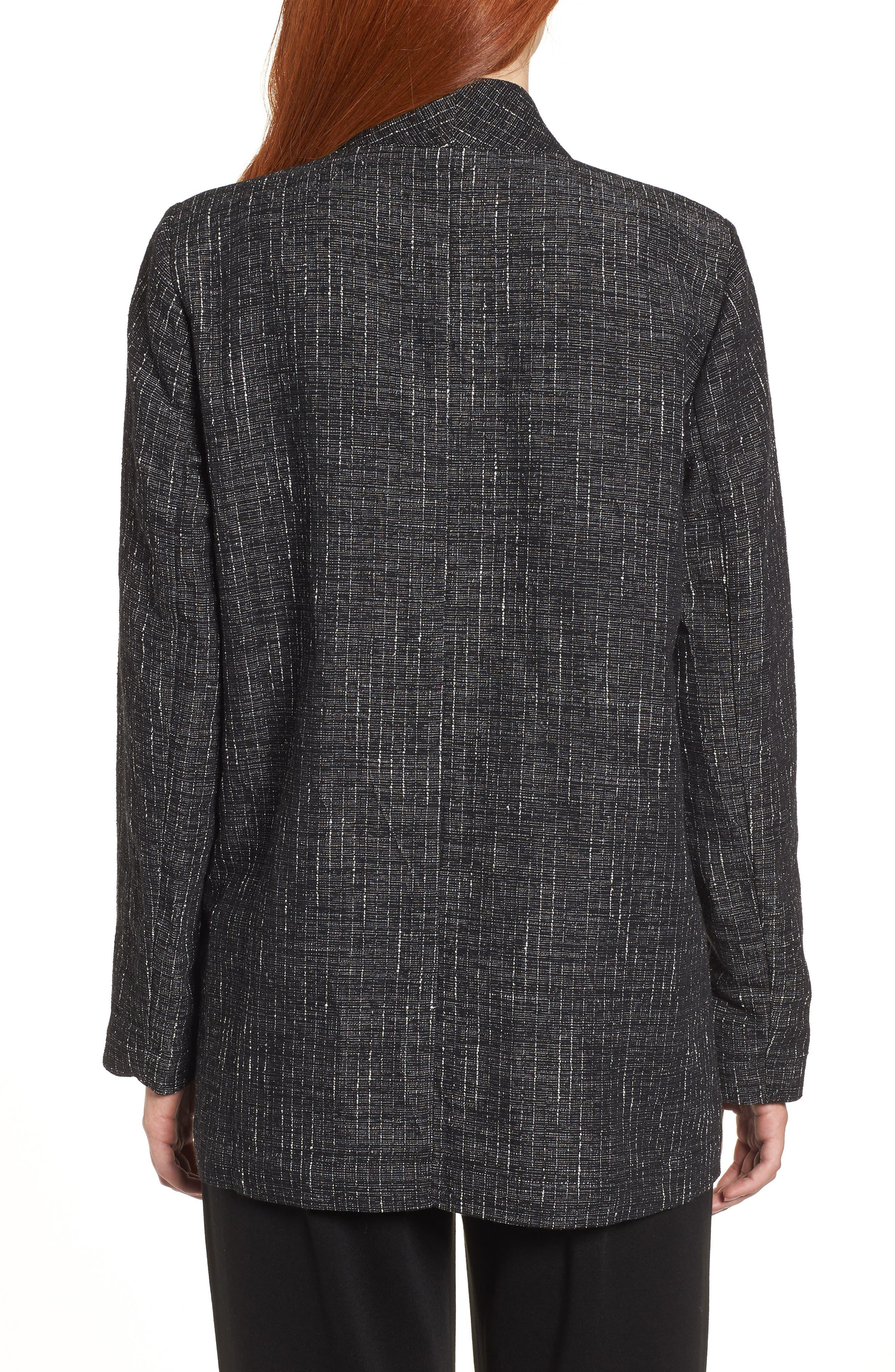 Stand Collar Kimono Jacket,                             Alternate thumbnail 2, color,                             Black