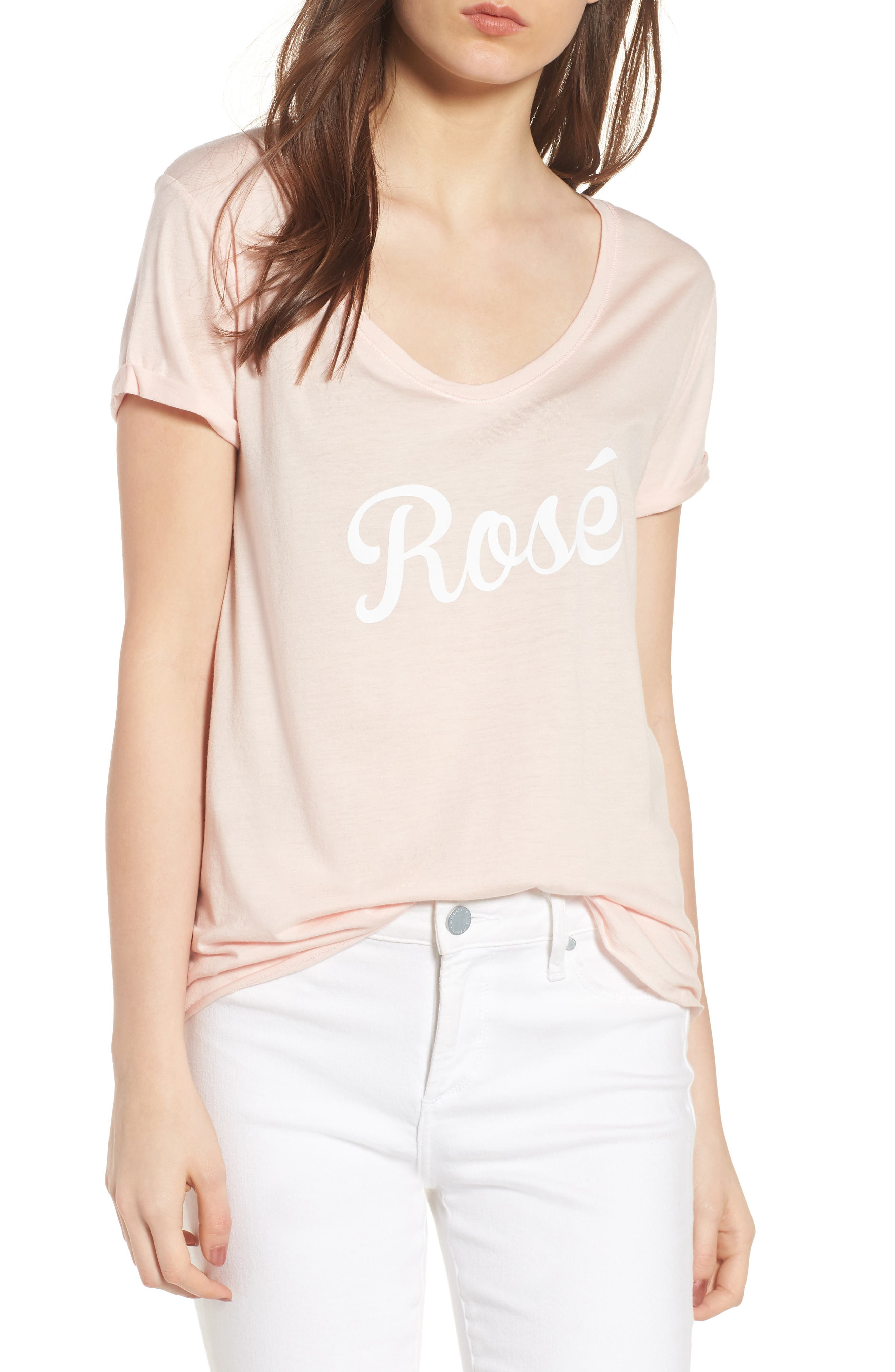 Valerie - Rosé Tee,                         Main,                         color, Pink