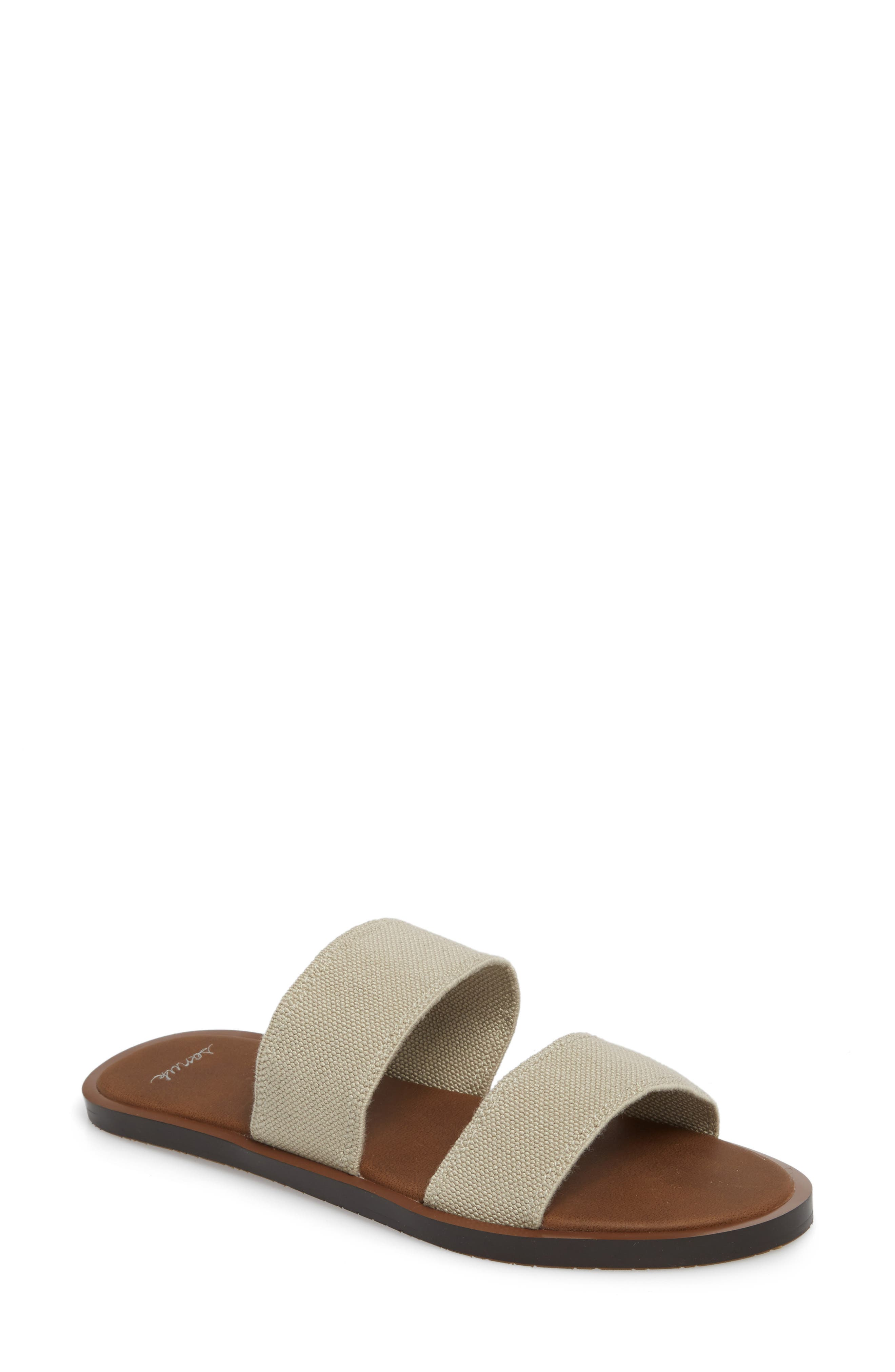 'Yoga Gora Gora' Slide Sandal,                             Main thumbnail 1, color,                             Natural