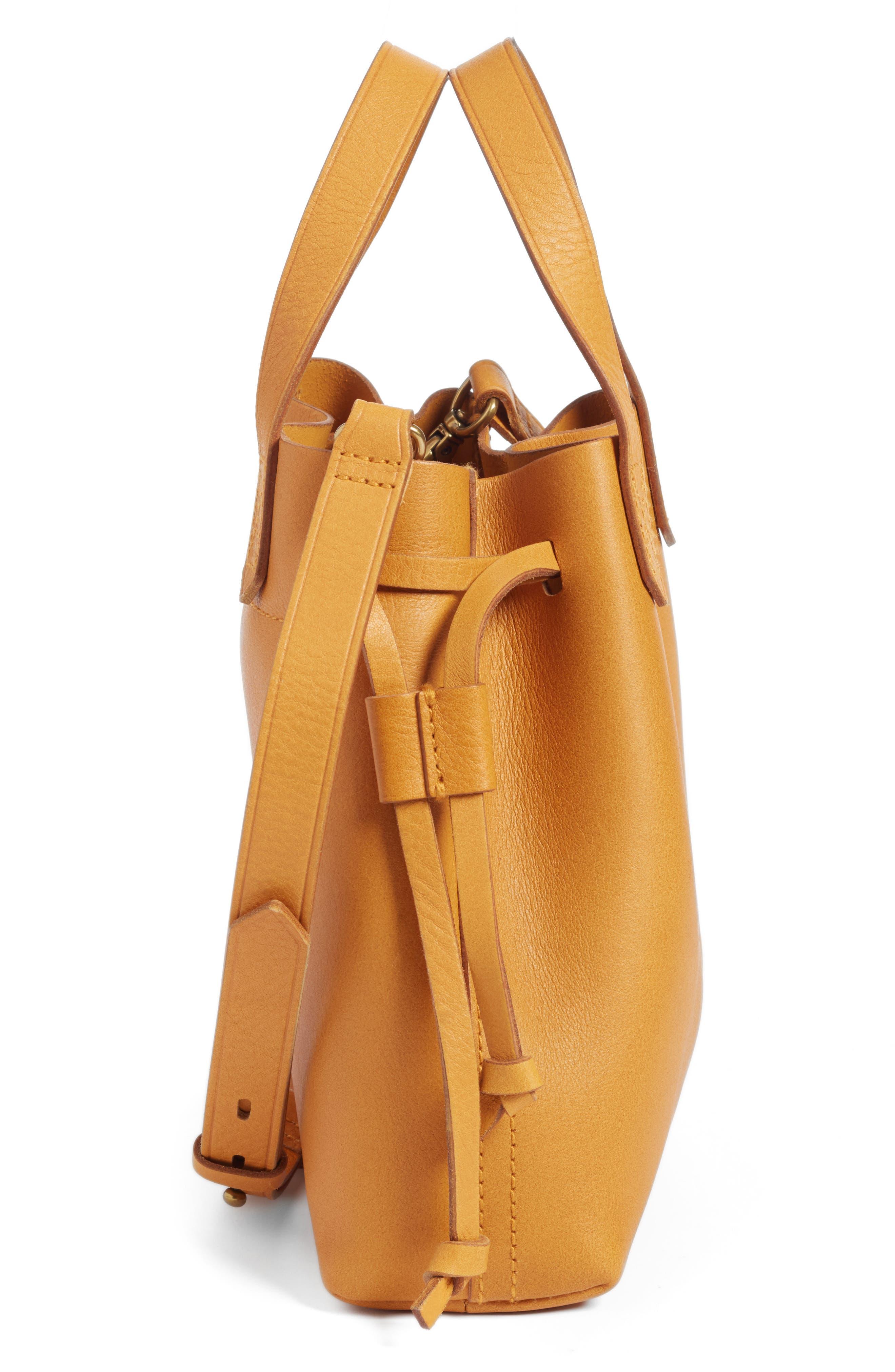 Alternate Image 4  - Madewell The Mini Pocket Transport Leather Drawstring Tote