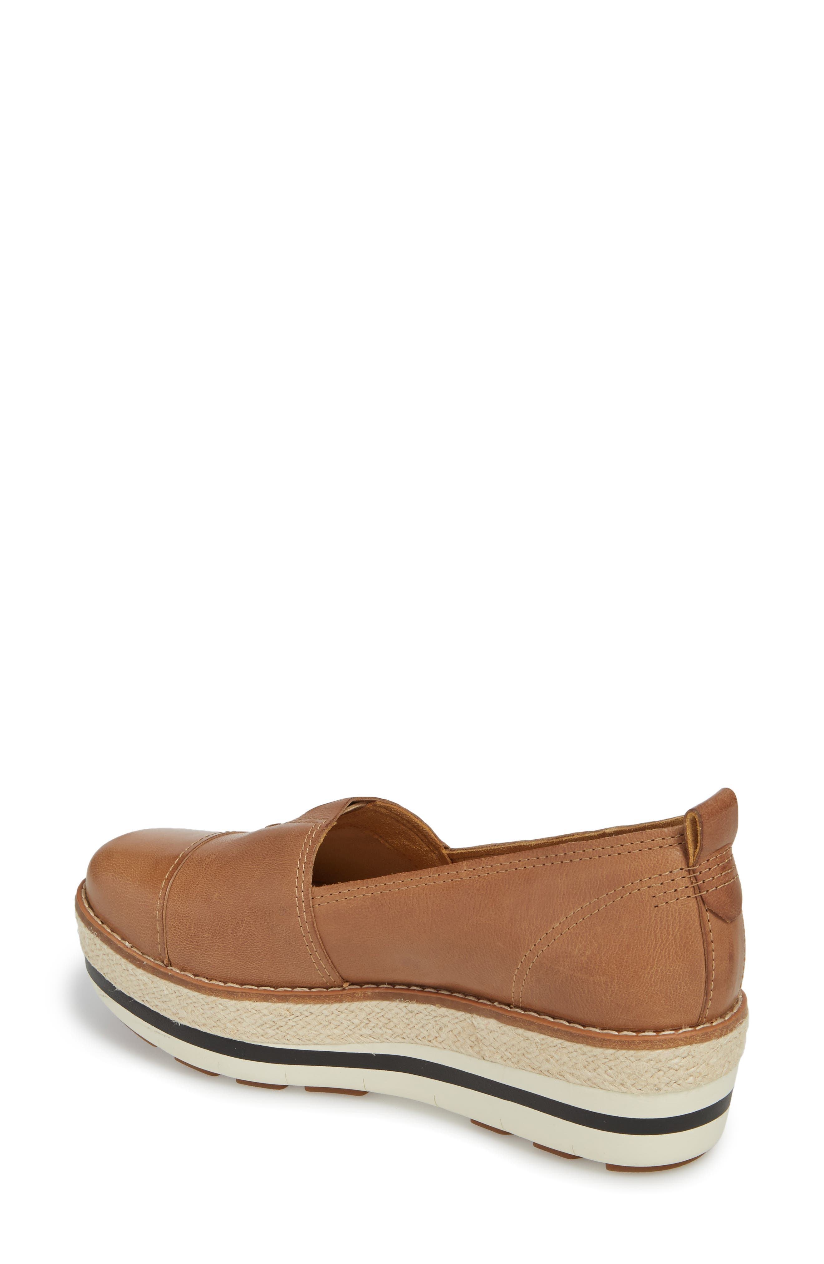Emerson Platform Slip-On,                             Alternate thumbnail 2, color,                             Iced Coffee Leather