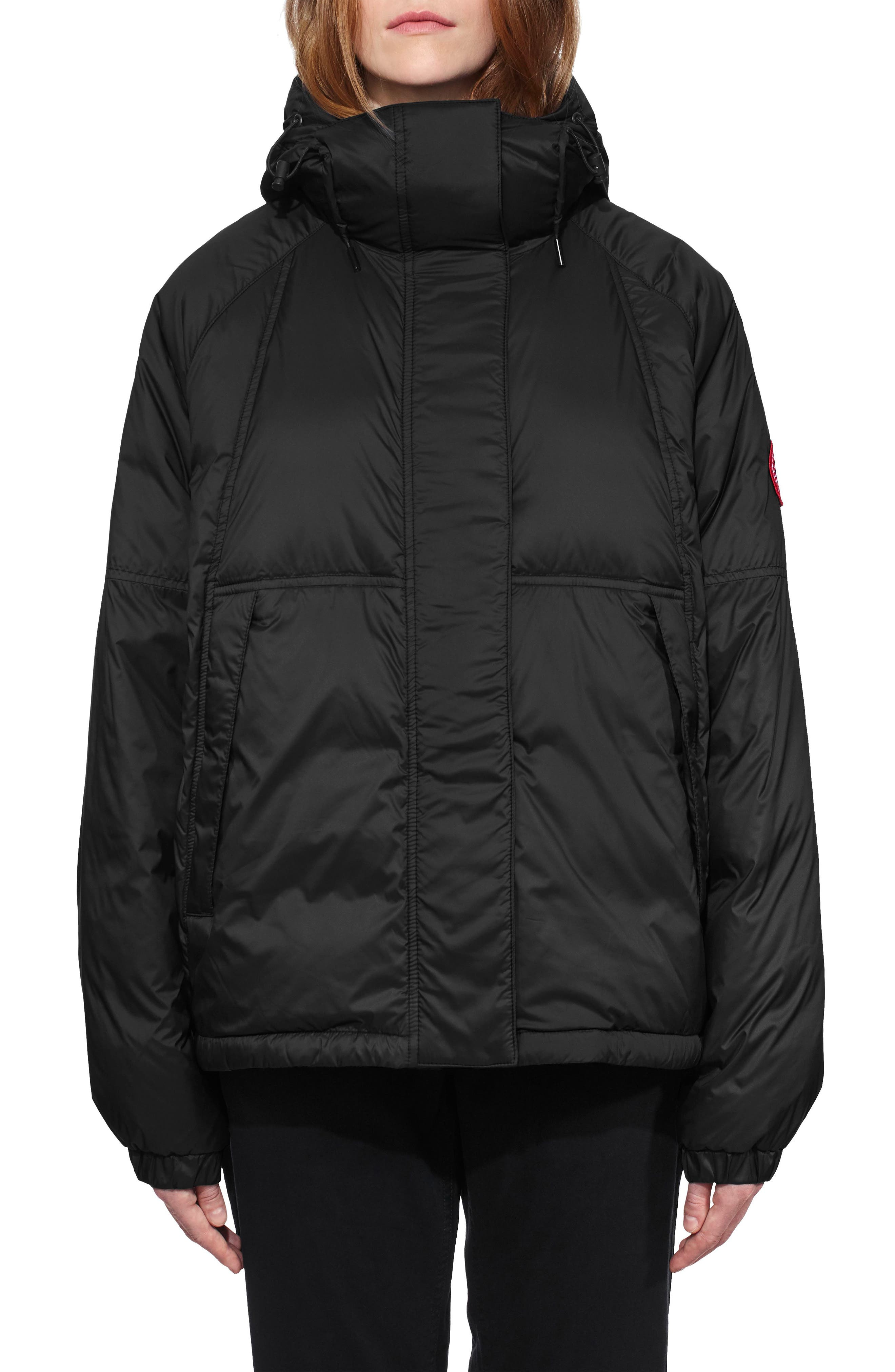 Campden Water Resistant Hooded Down Jacket,                             Main thumbnail 1, color,                             Black