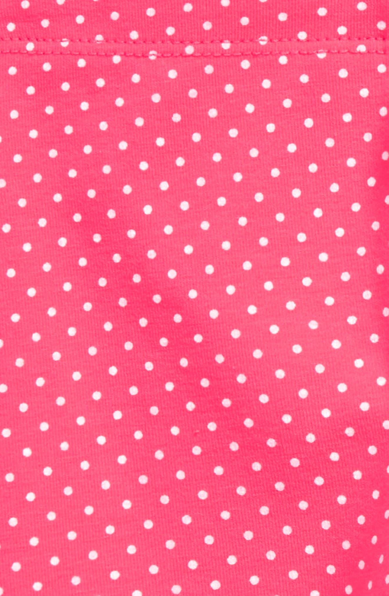 Pin Dot Leggings,                             Alternate thumbnail 2, color,                             Candy Apple