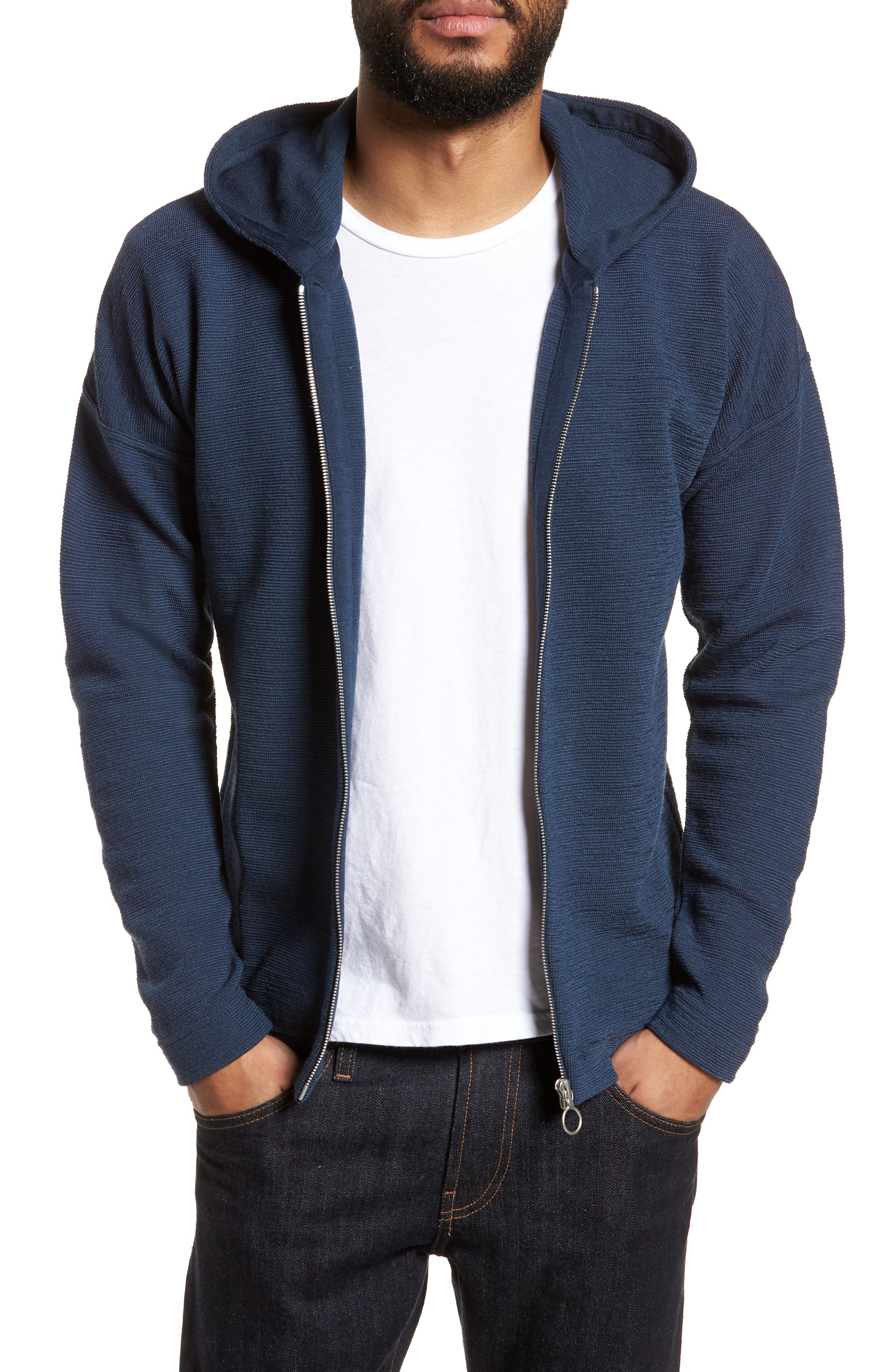 Origo Wool Hoodie,                         Main,                         color, Still Blue