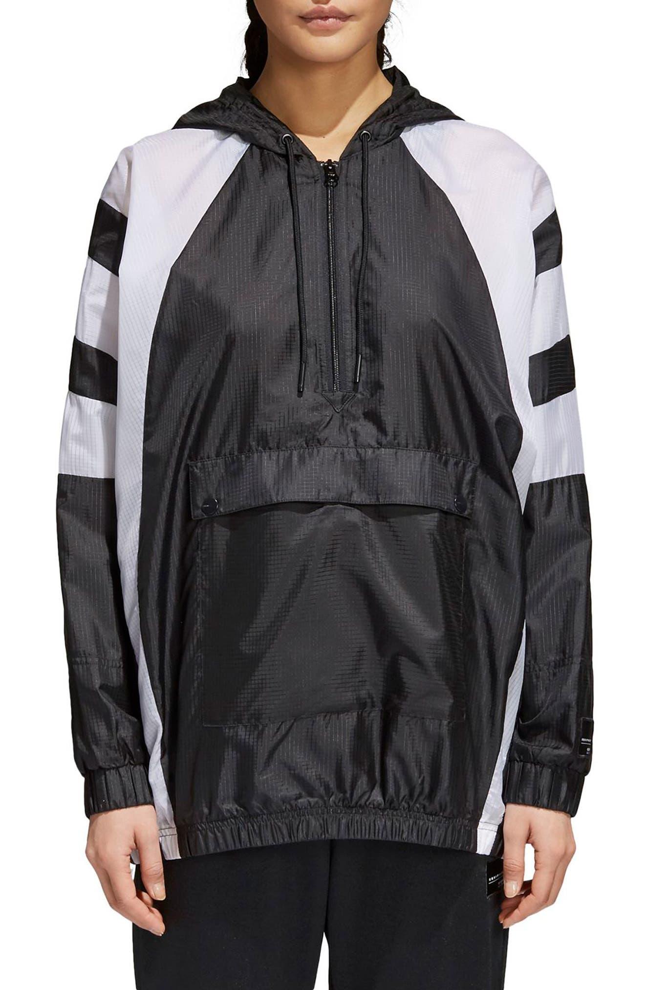 EQT Pullover Windbreaker,                         Main,                         color, Black