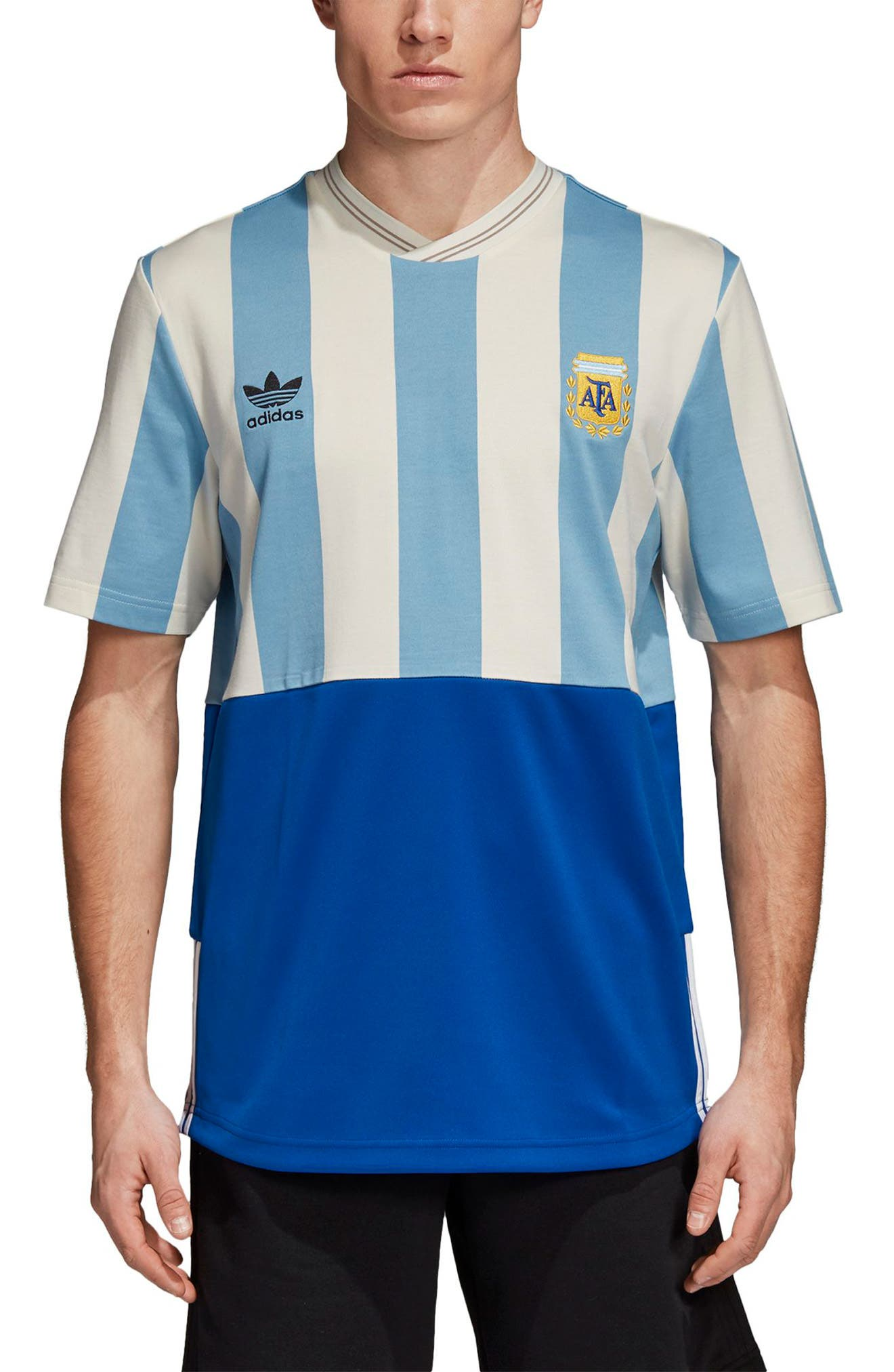 Argentina Mash-Up Jersey,                             Main thumbnail 1, color,                             Shade Blue/ Echo Whit