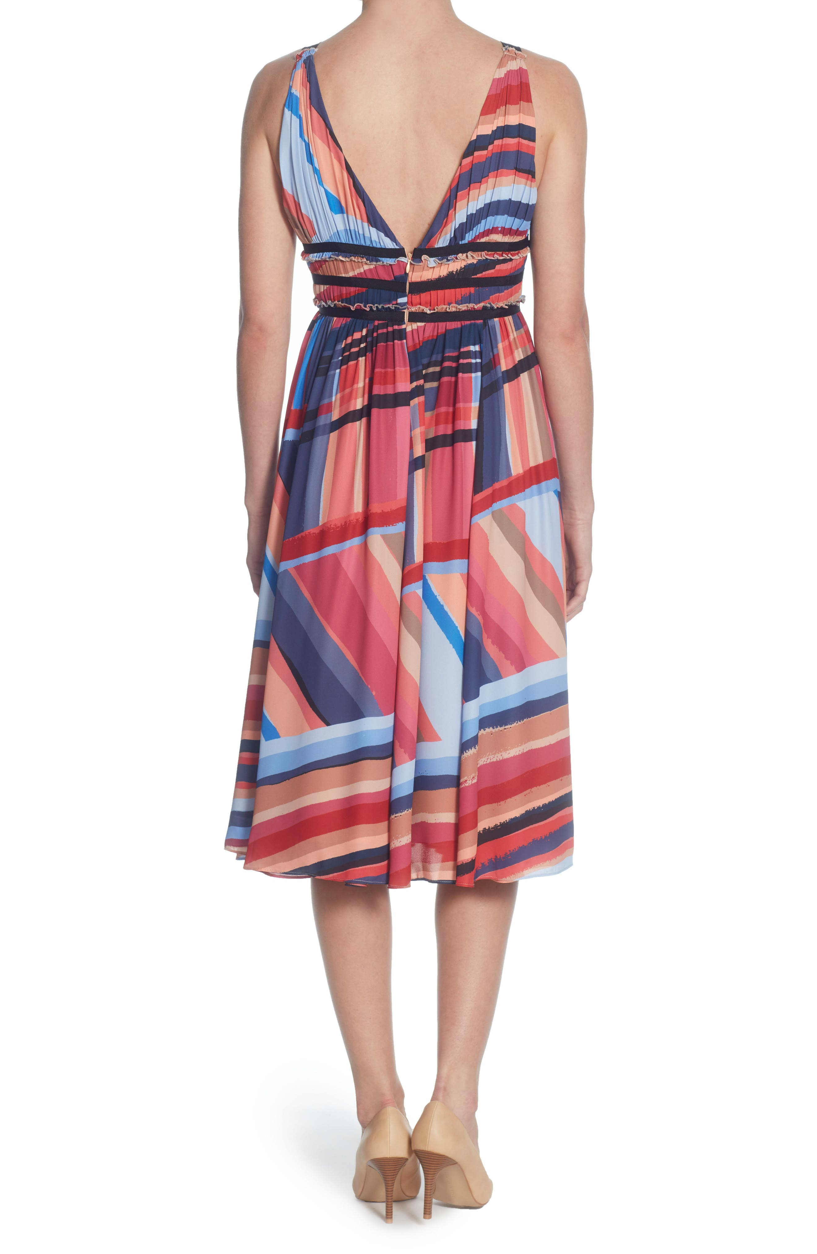 Marlieke Halter Dress,                             Alternate thumbnail 2, color,                             Washed Stripe