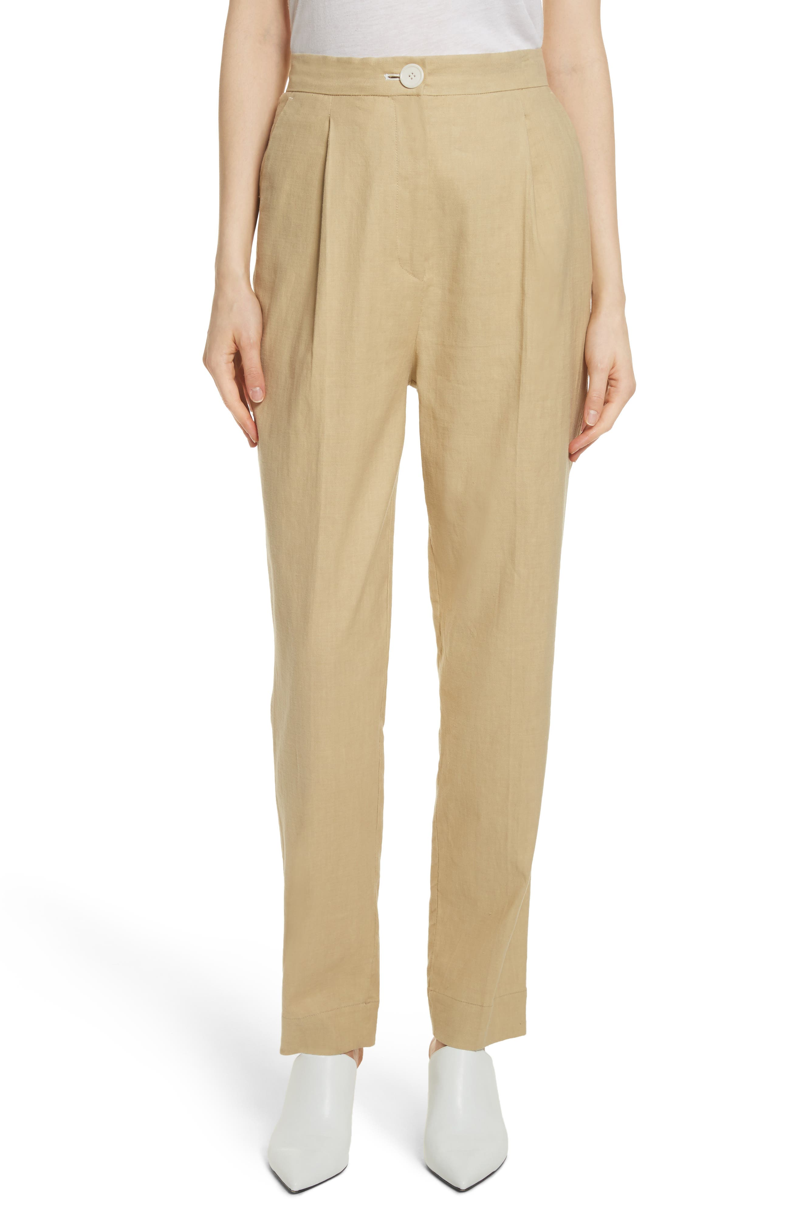 Robert Rodriguez Pleat Front Linen Blend Pants