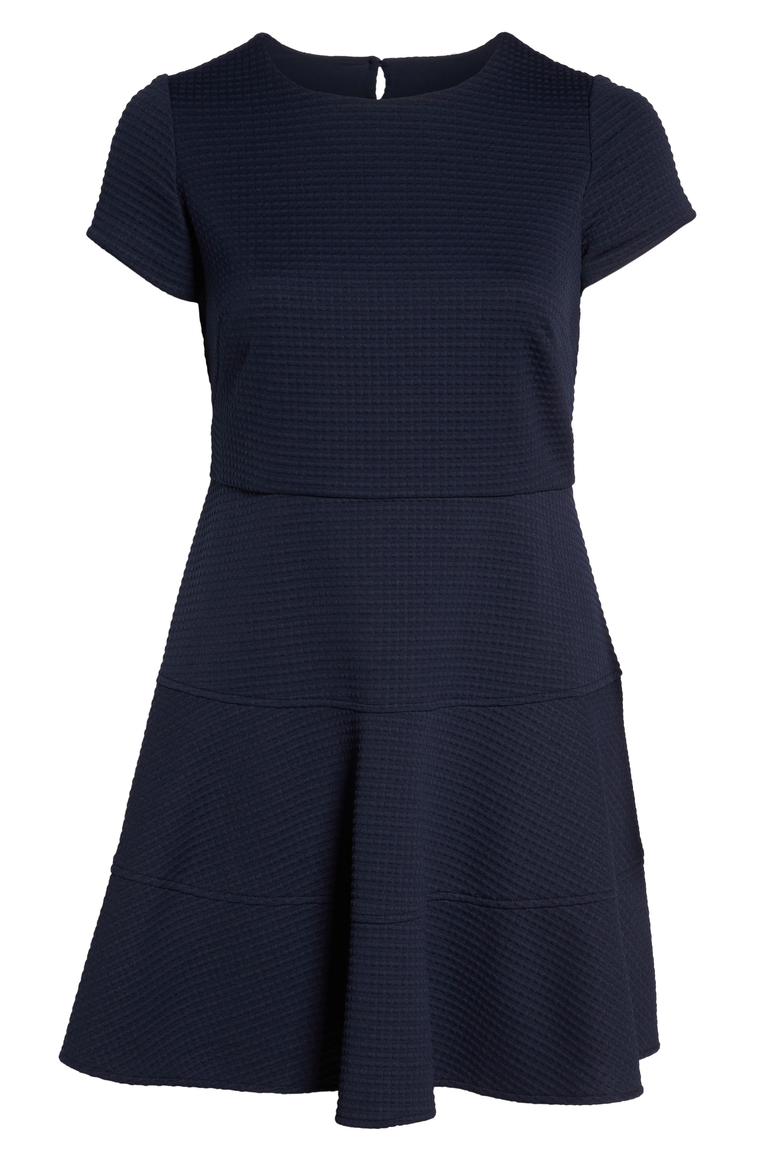 Fit & Flare Dress,                             Alternate thumbnail 6, color,                             Navy