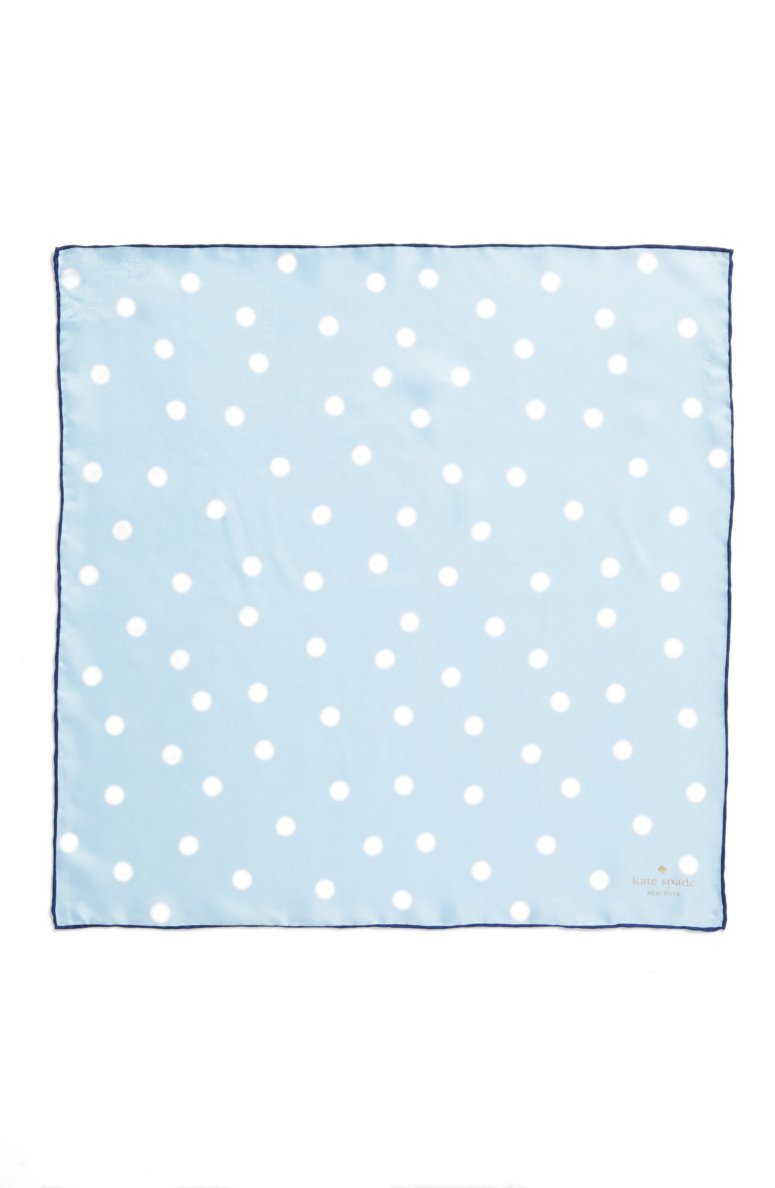 dancing dot silk bandana,                             Alternate thumbnail 2, color,                             Bayside Blue/ French Navy