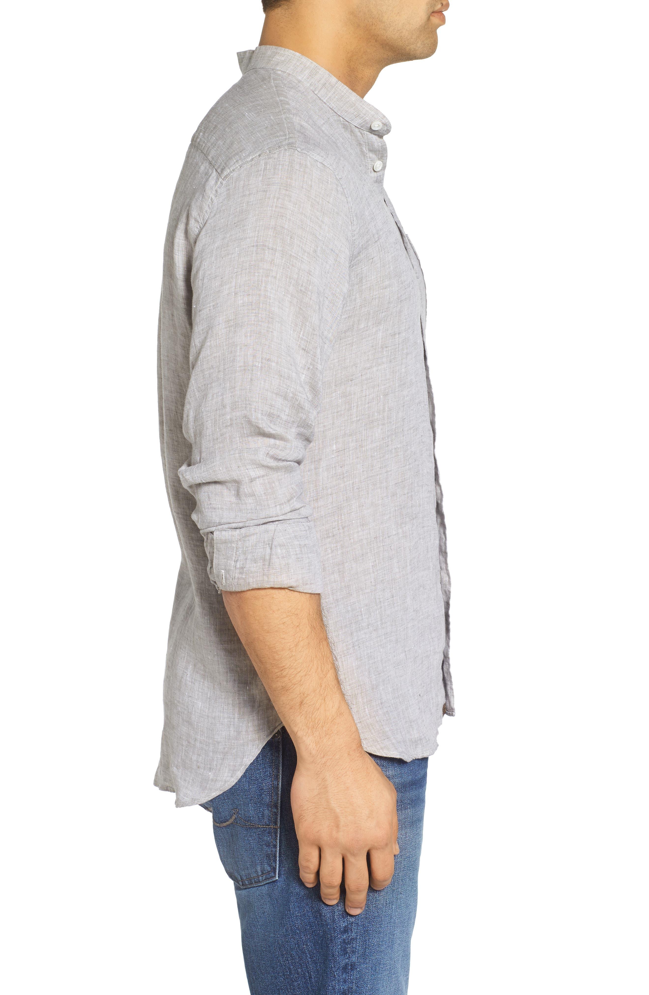 Crawford Sport Shirt,                             Alternate thumbnail 3, color,                             Grey