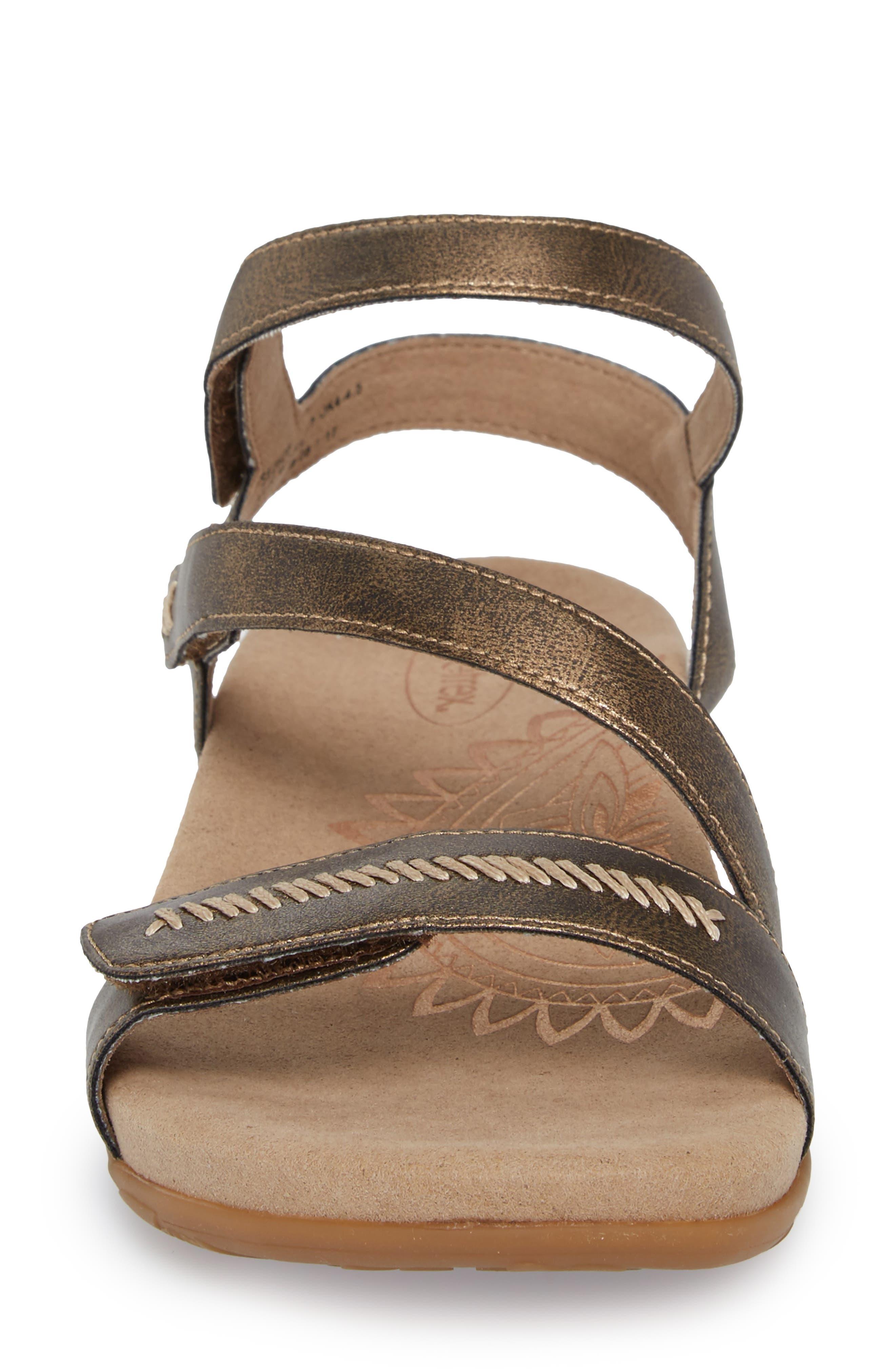 Gabby Sandal,                             Alternate thumbnail 4, color,                             Bronze Leather