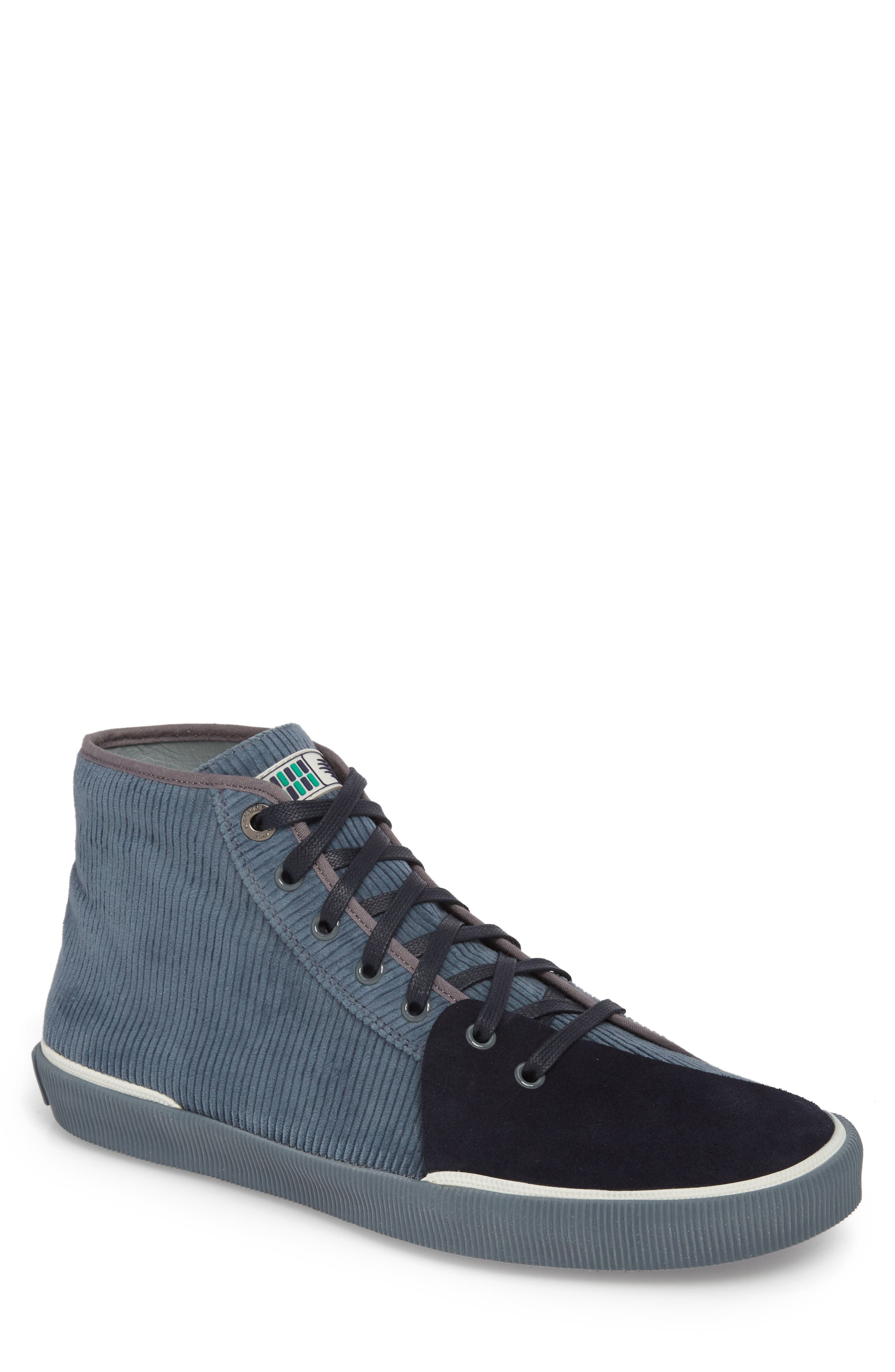 Mid Top Sneaker,                             Main thumbnail 1, color,                             Elephant Grey Suede
