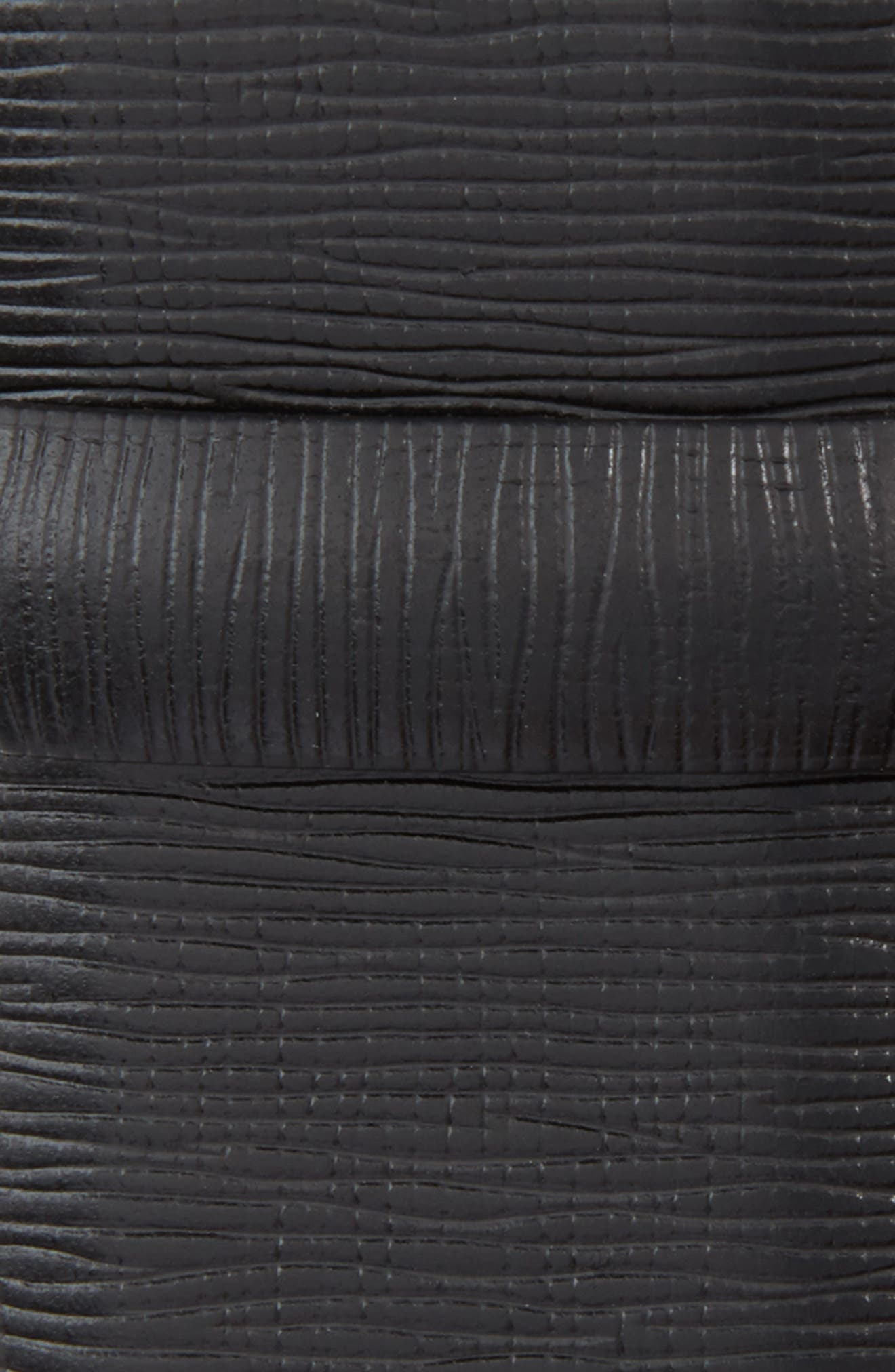 Baywater Avenue Leather Belt,                             Alternate thumbnail 3, color,                             Nero