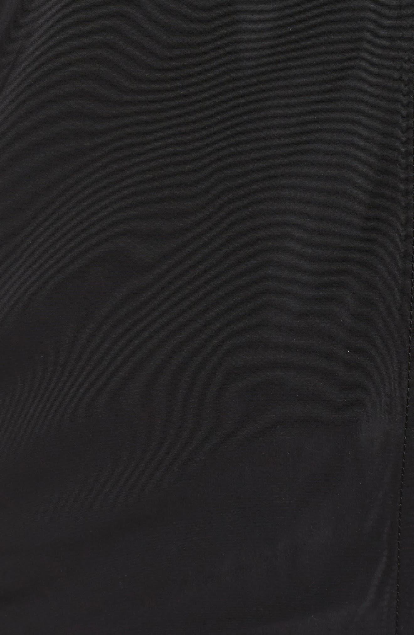Bomber Jacket,                             Alternate thumbnail 5, color,                             Black