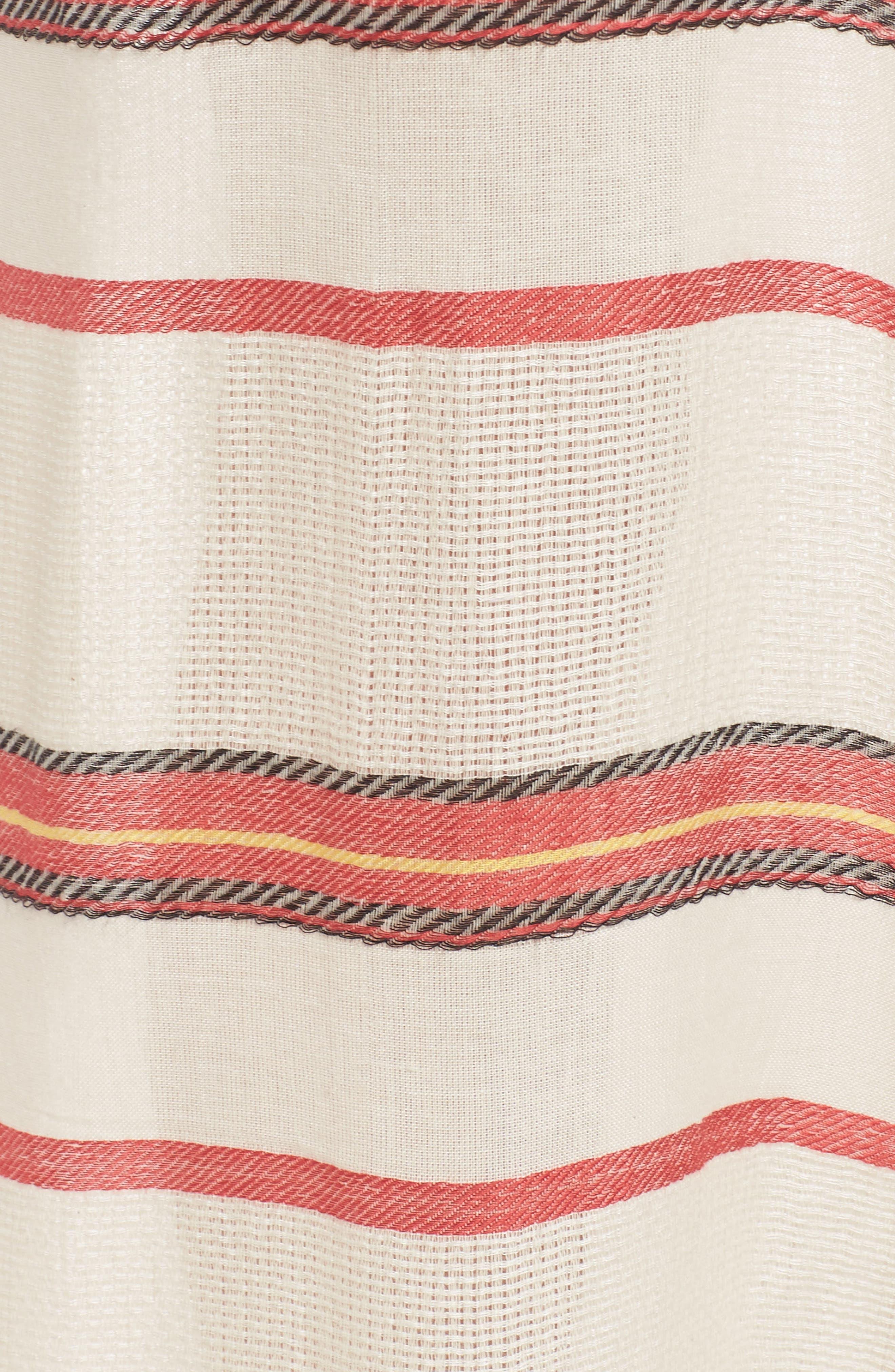 Paradise Cover-Up Kimono,                             Alternate thumbnail 5, color,                             Natural Stripe