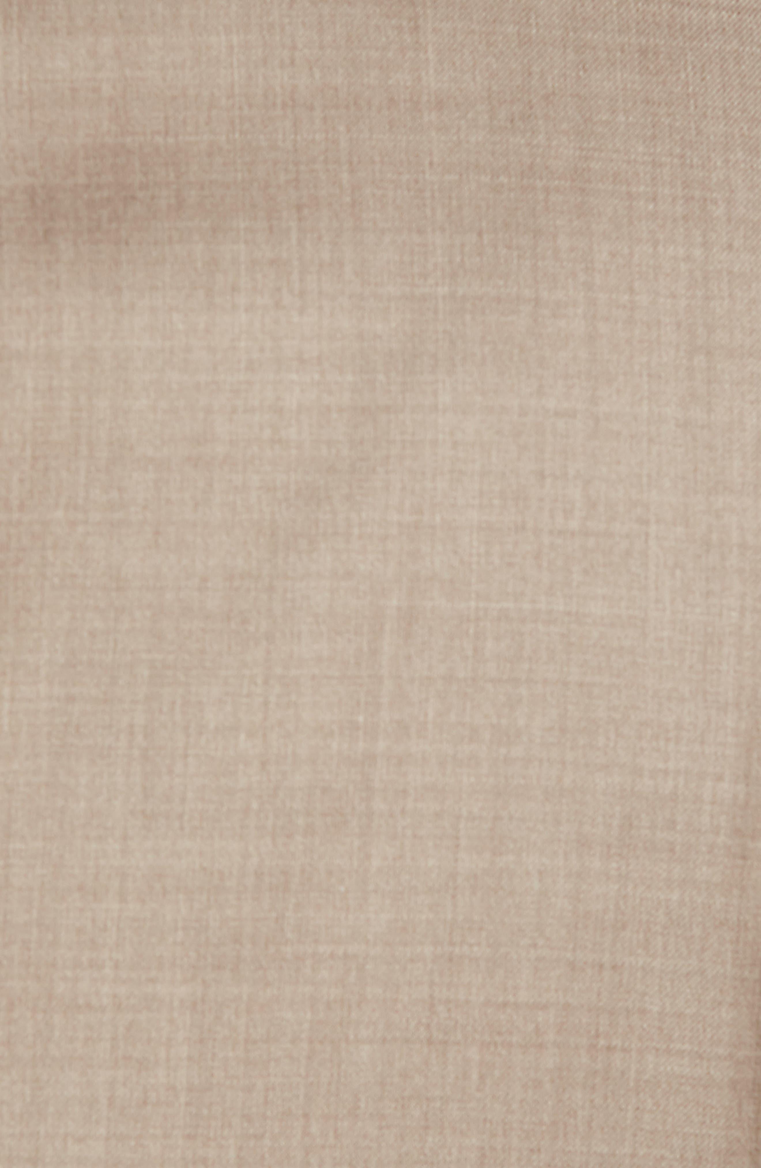Classic B Fit Solid Wool Suit,                             Alternate thumbnail 6, color,                             Medium Beige