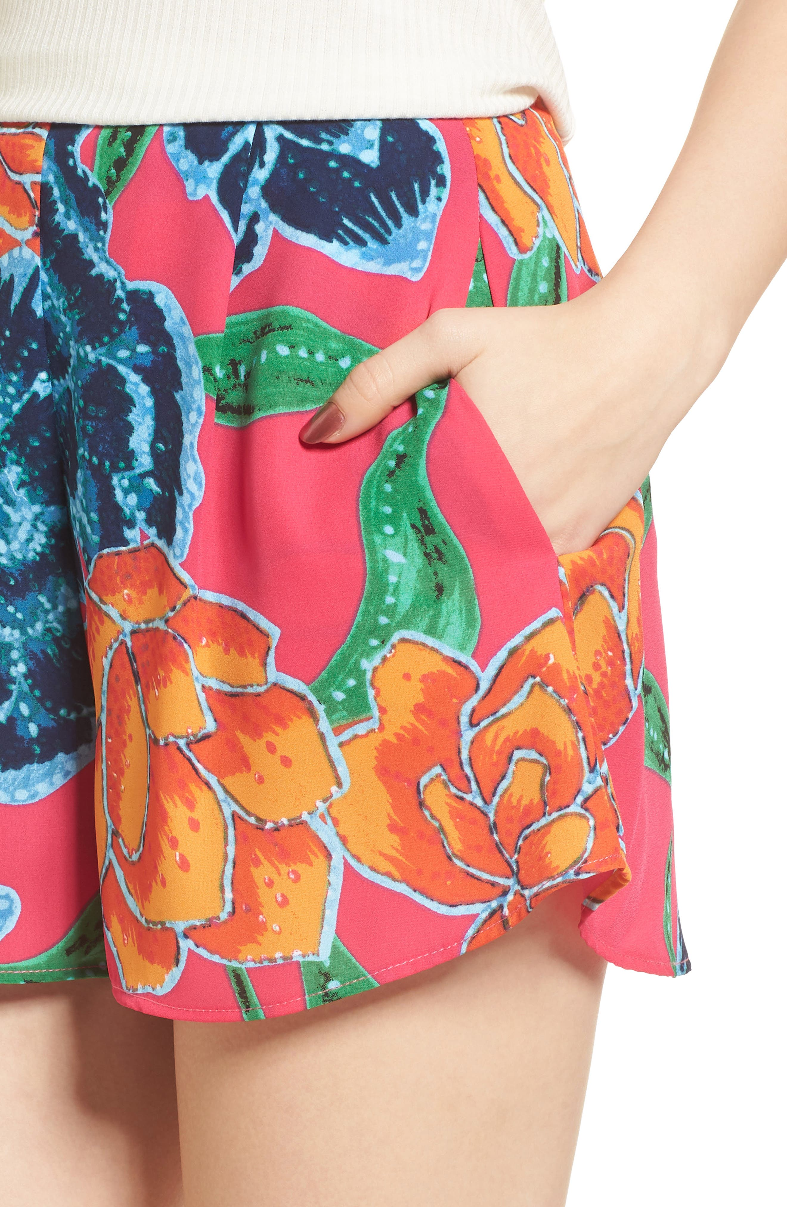 Sawyer Shorts,                             Alternate thumbnail 5, color,                             Floratopia