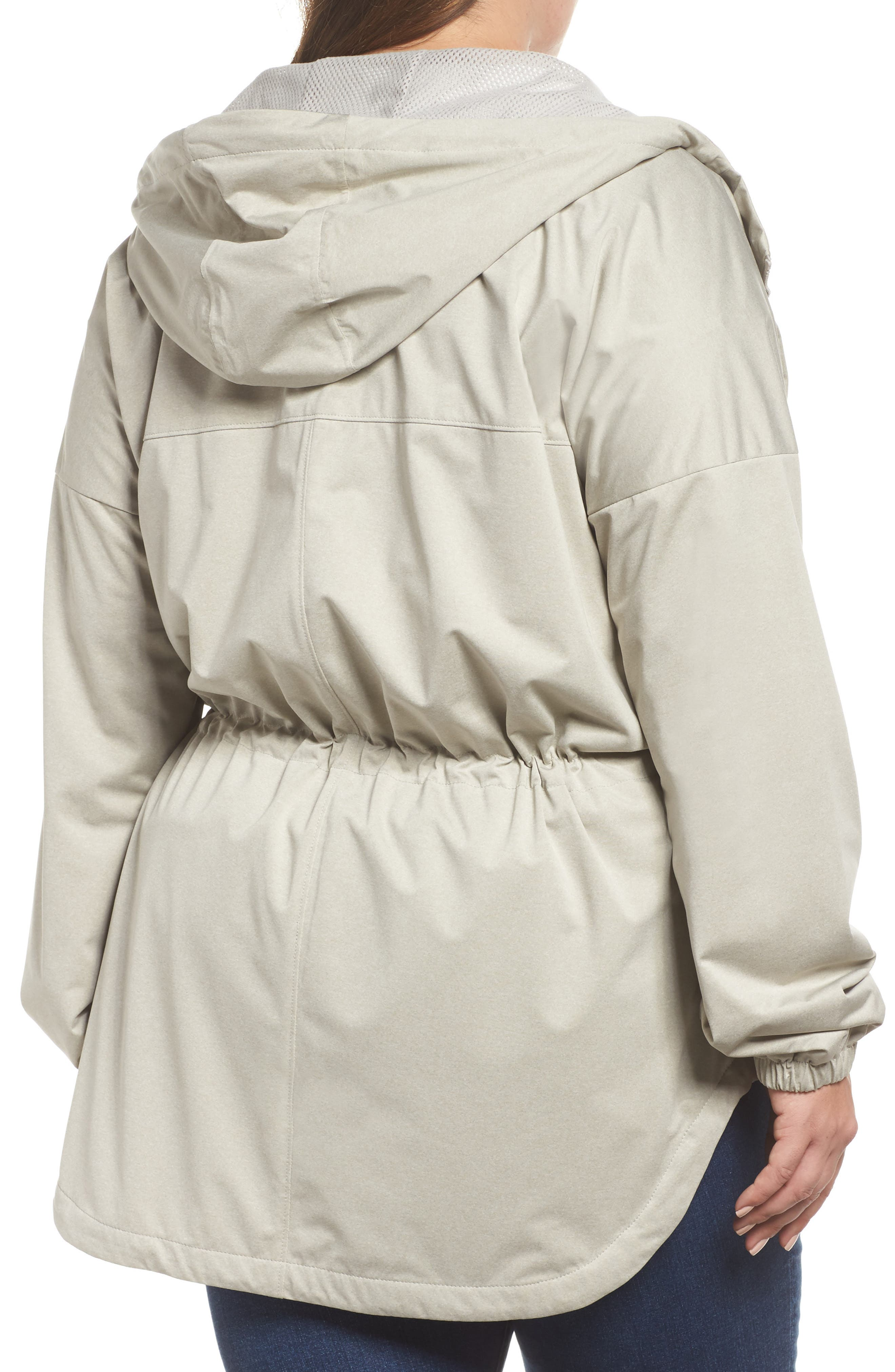 Northbounder Waterproof Hooded Jacket,                             Alternate thumbnail 2, color,                             Flint Grey Heather
