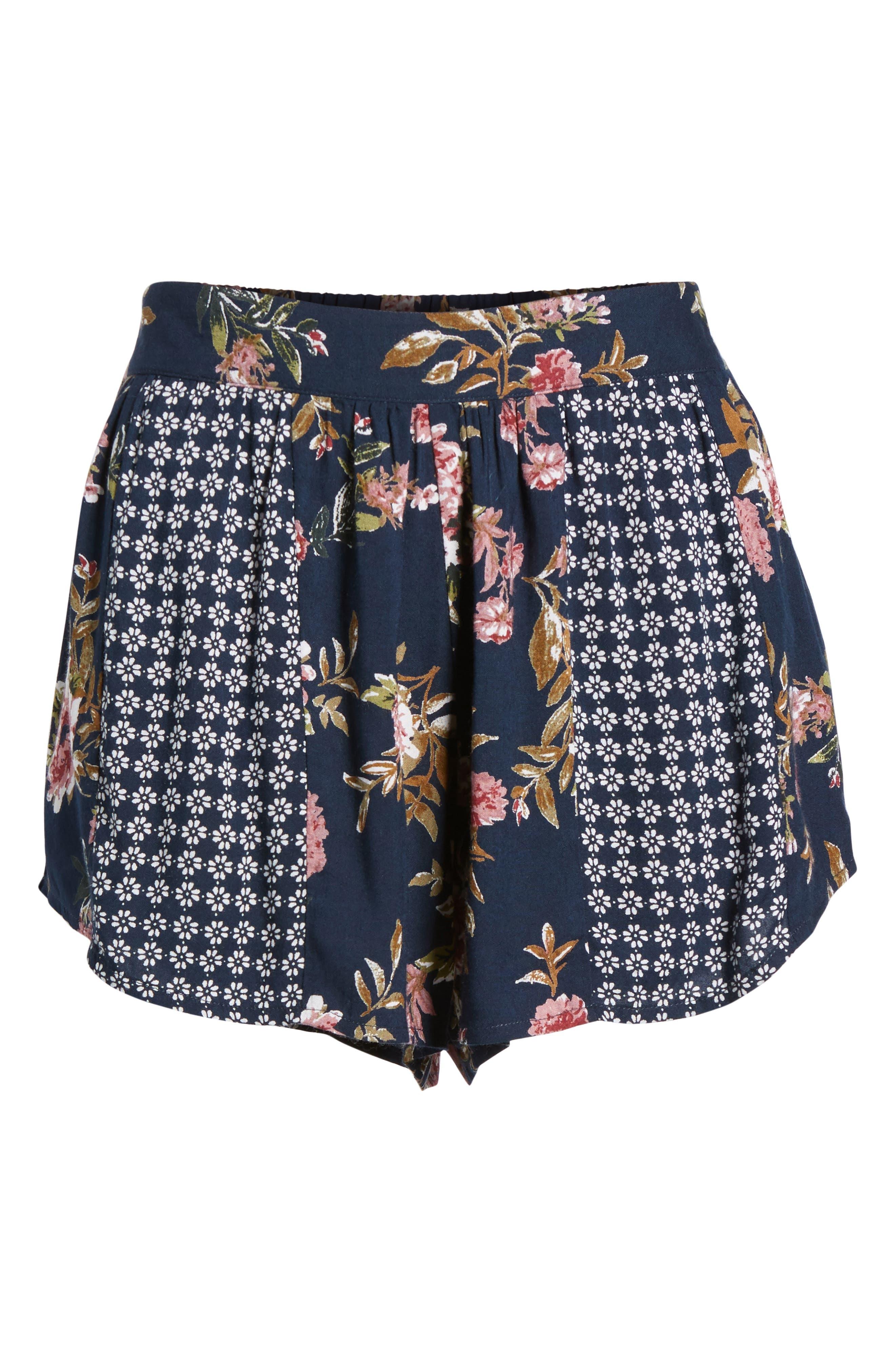 Mix Print Shorts,                             Alternate thumbnail 7, color,                             Navy/ Olive