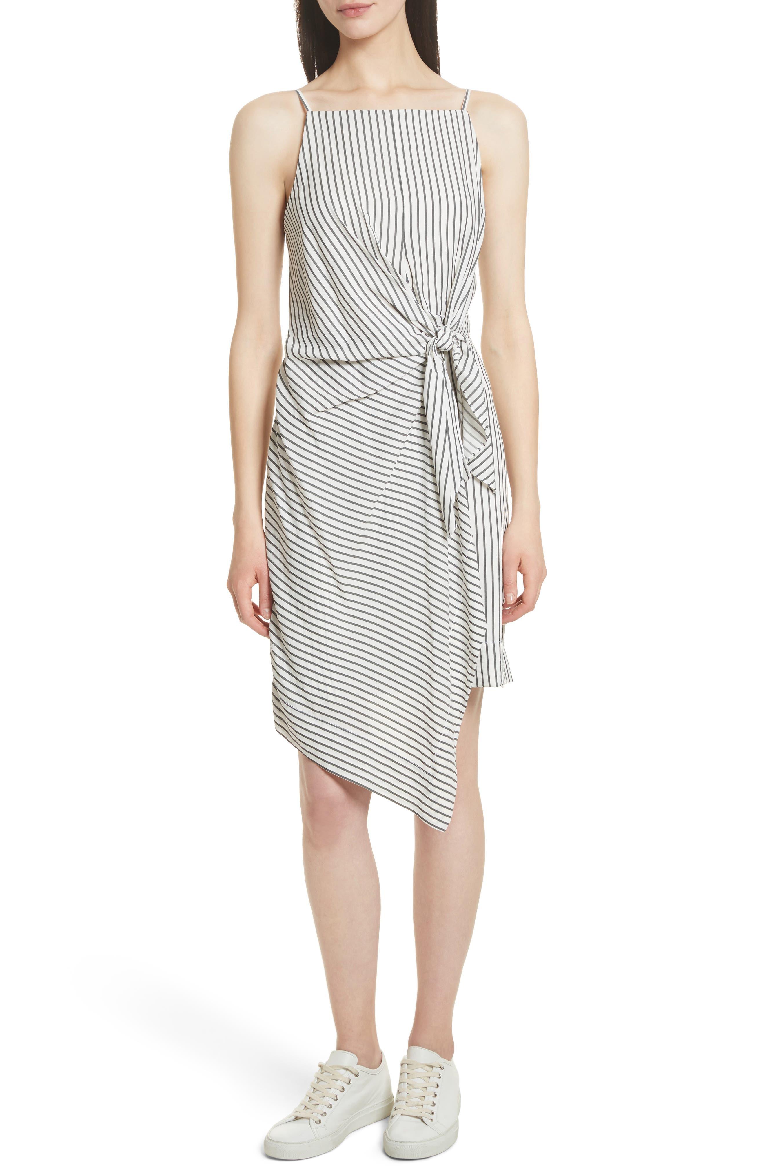 GREY Jason Wu Stripe Tie Front Dress