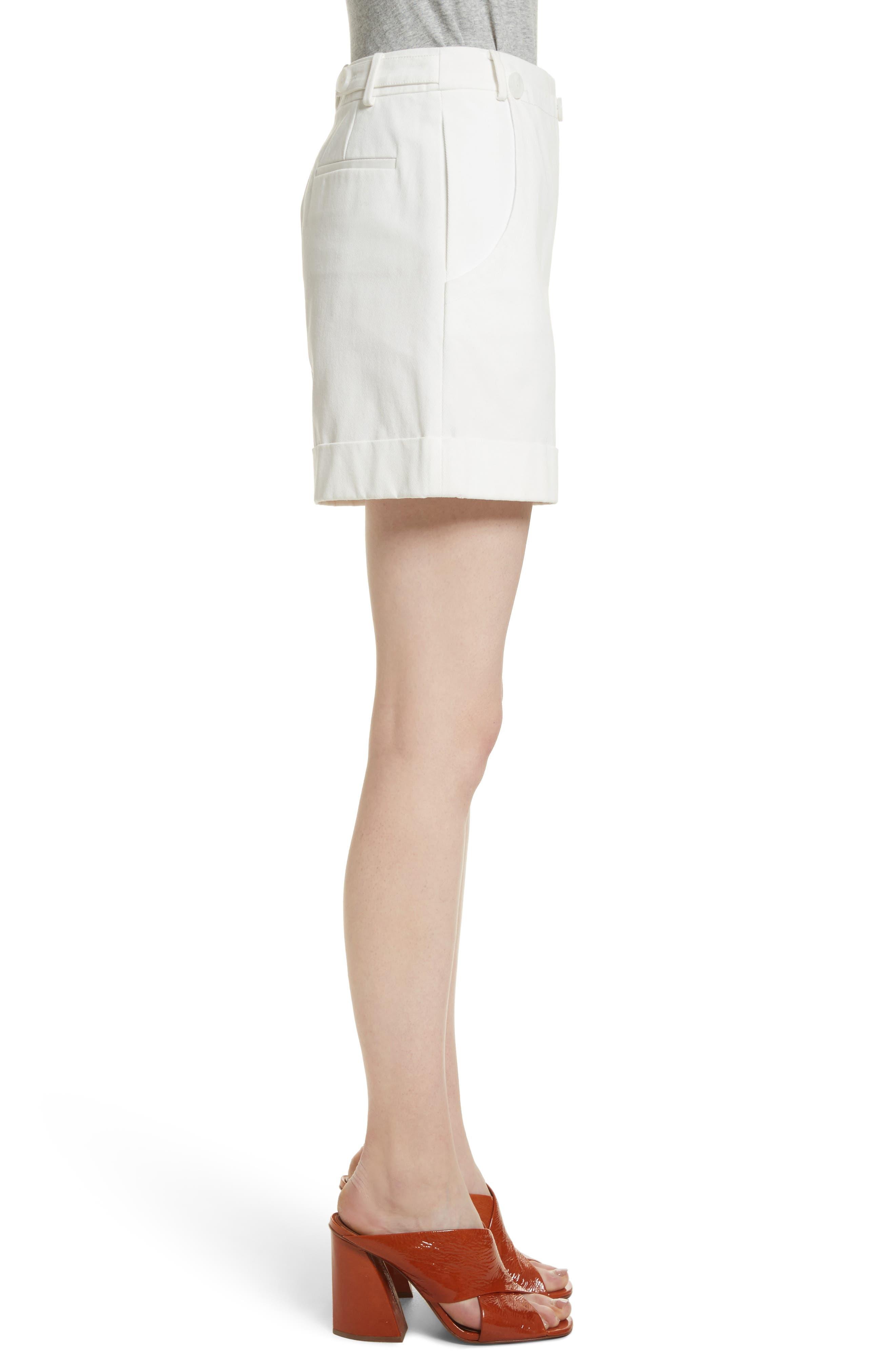 Stretch Cotton Sailor Shorts,                             Alternate thumbnail 3, color,                             Star White
