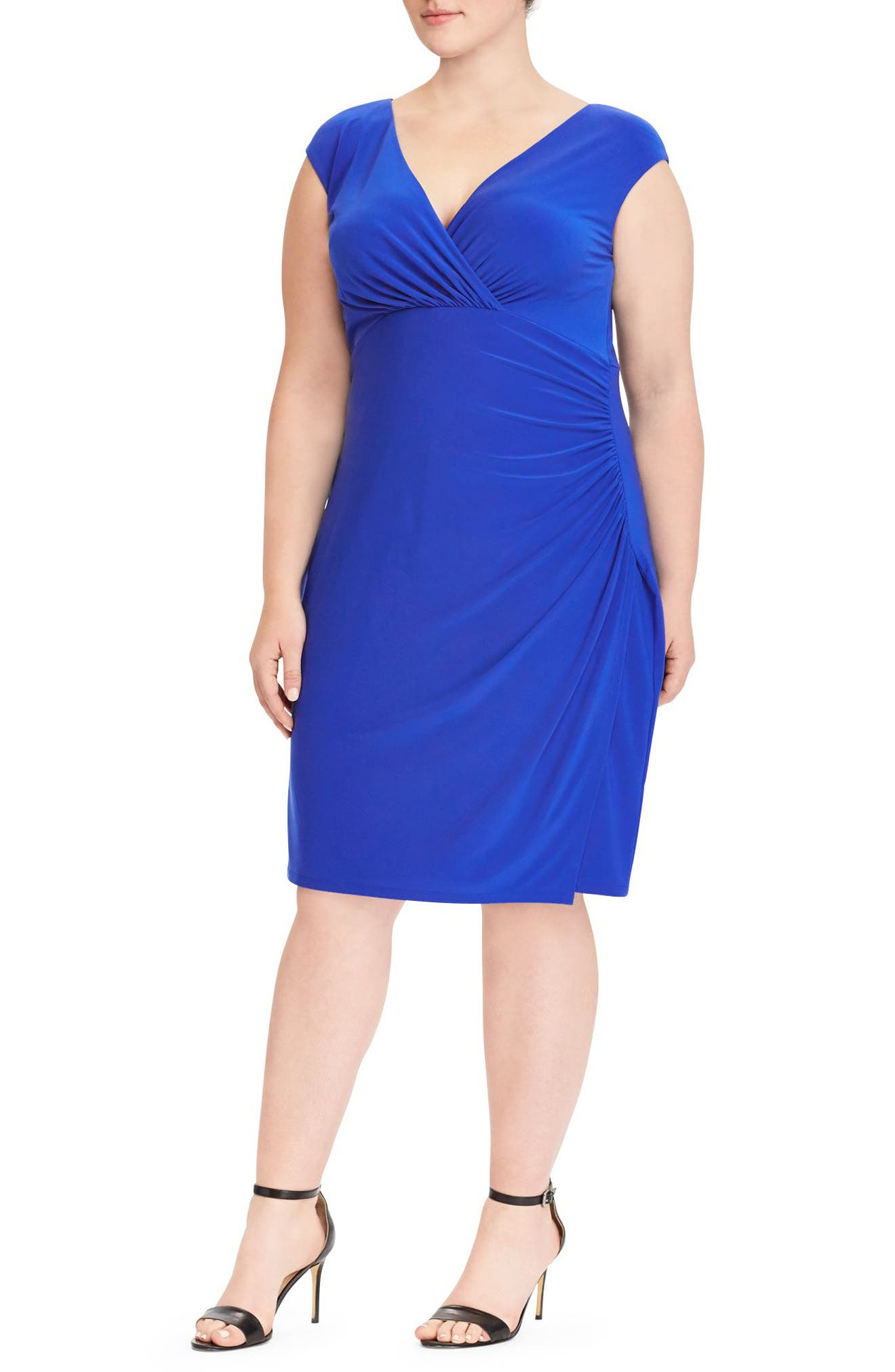 Adara Sheath Dress,                         Main,                         color, Deep Lapis