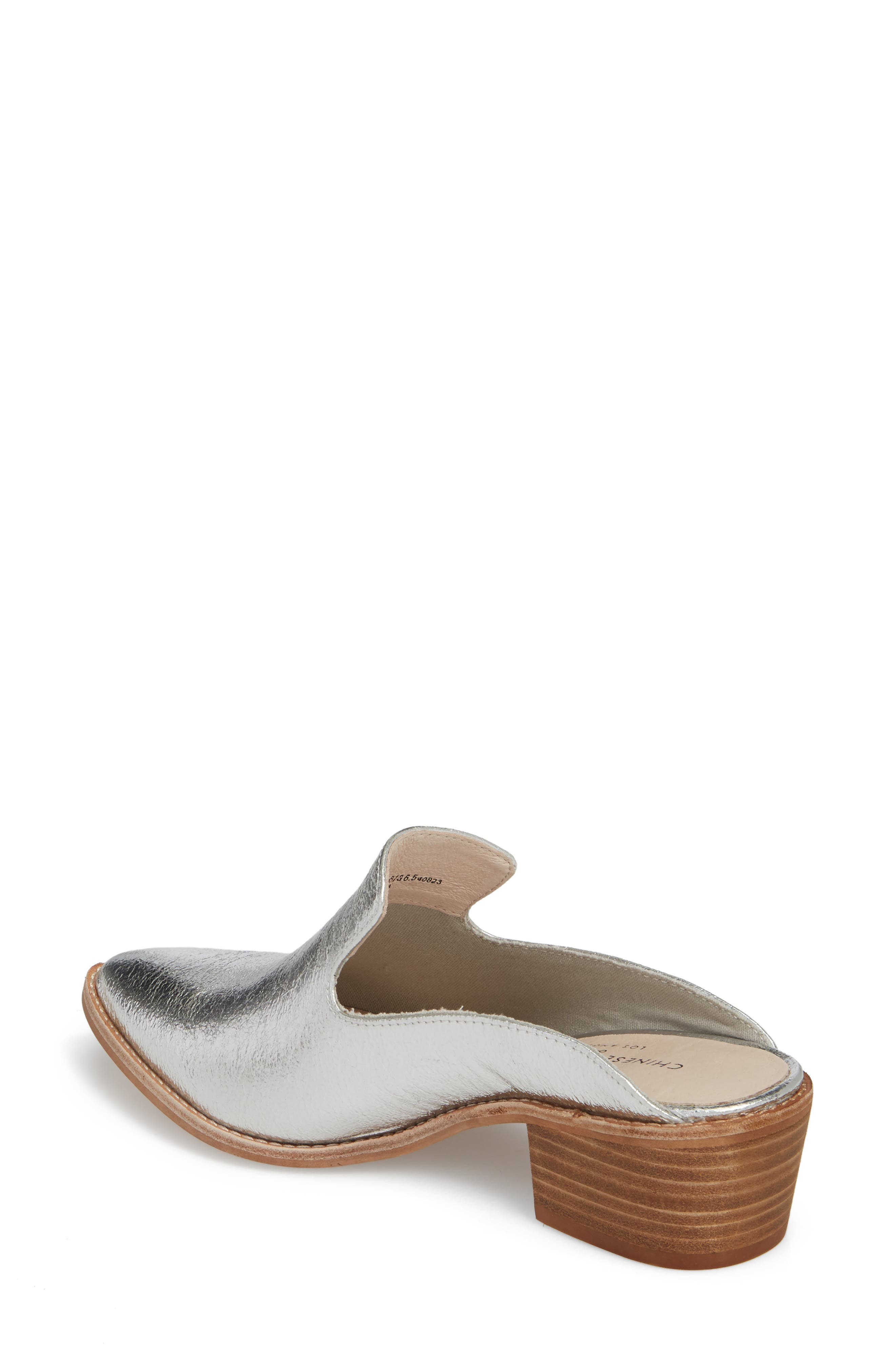 Marnie Loafer Mule,                             Alternate thumbnail 2, color,                             Silver