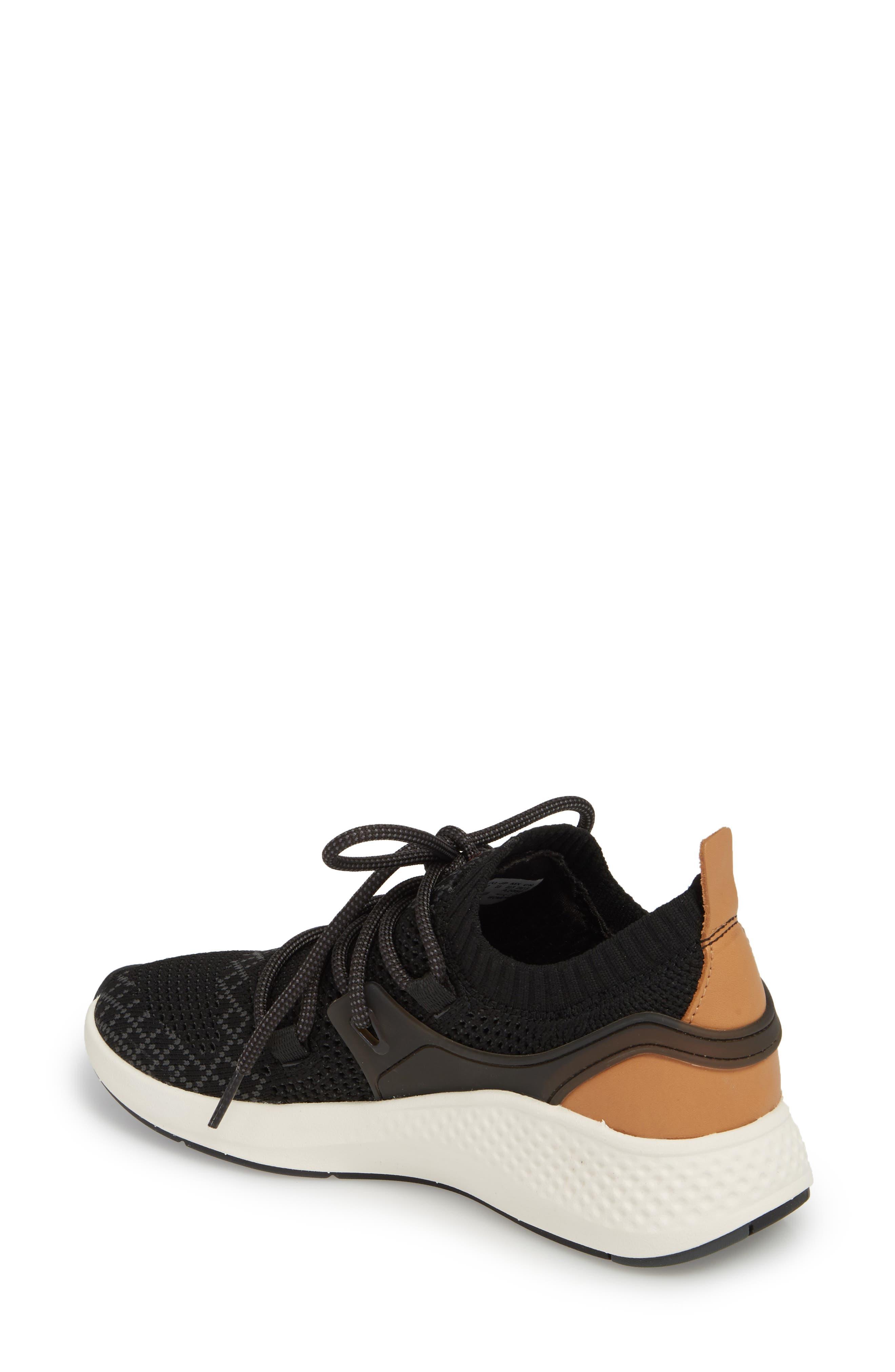 FlyRoam Go Knit Sneaker,                             Alternate thumbnail 2, color,                             Black Fabric