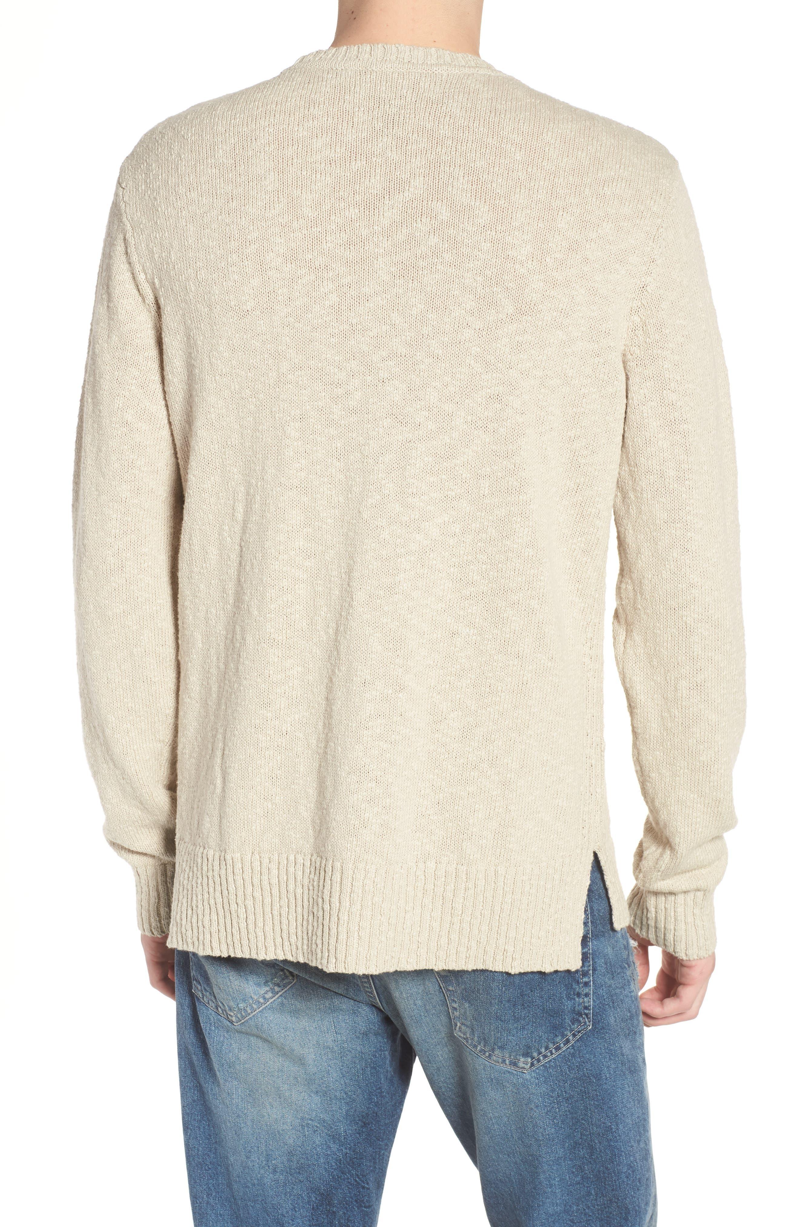 Deklyn Slim Fit Crew Sweater,                             Alternate thumbnail 2, color,                             Mineral Veil