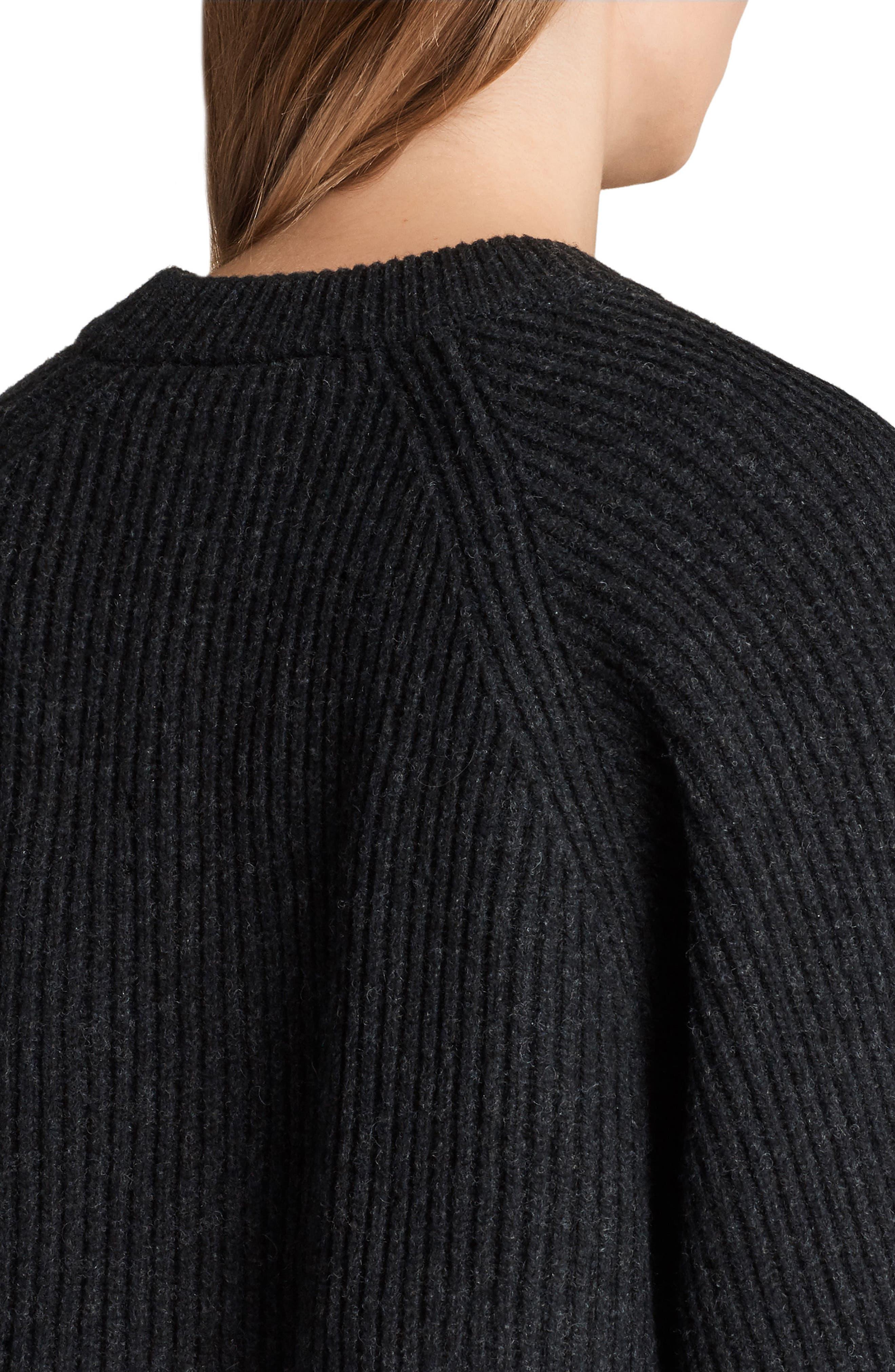 Sura Sweater Dress,                             Alternate thumbnail 4, color,                             Cinder Black Marl