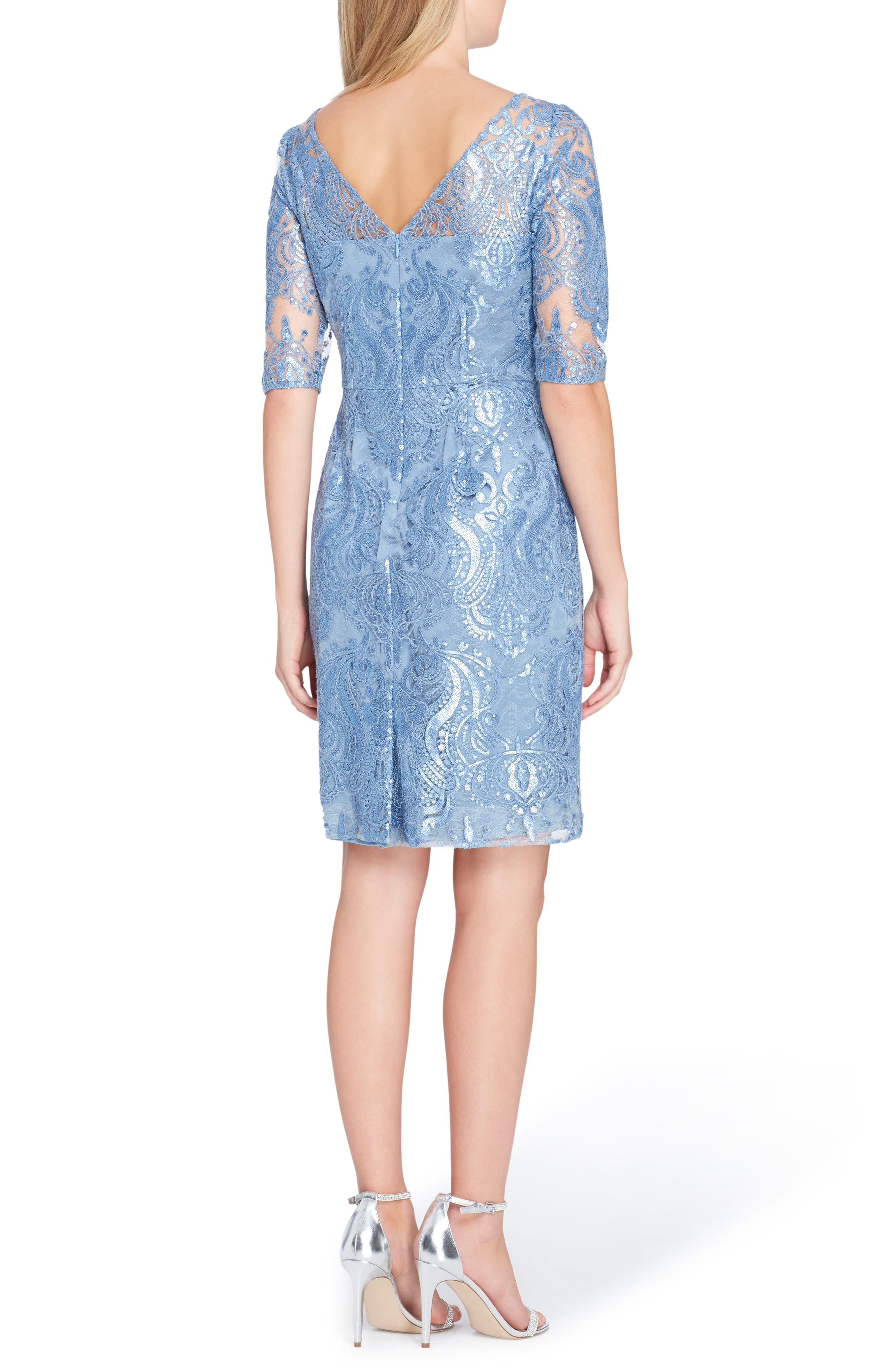 Sequin Sheath Dress,                             Alternate thumbnail 2, color,                             Periwinkle