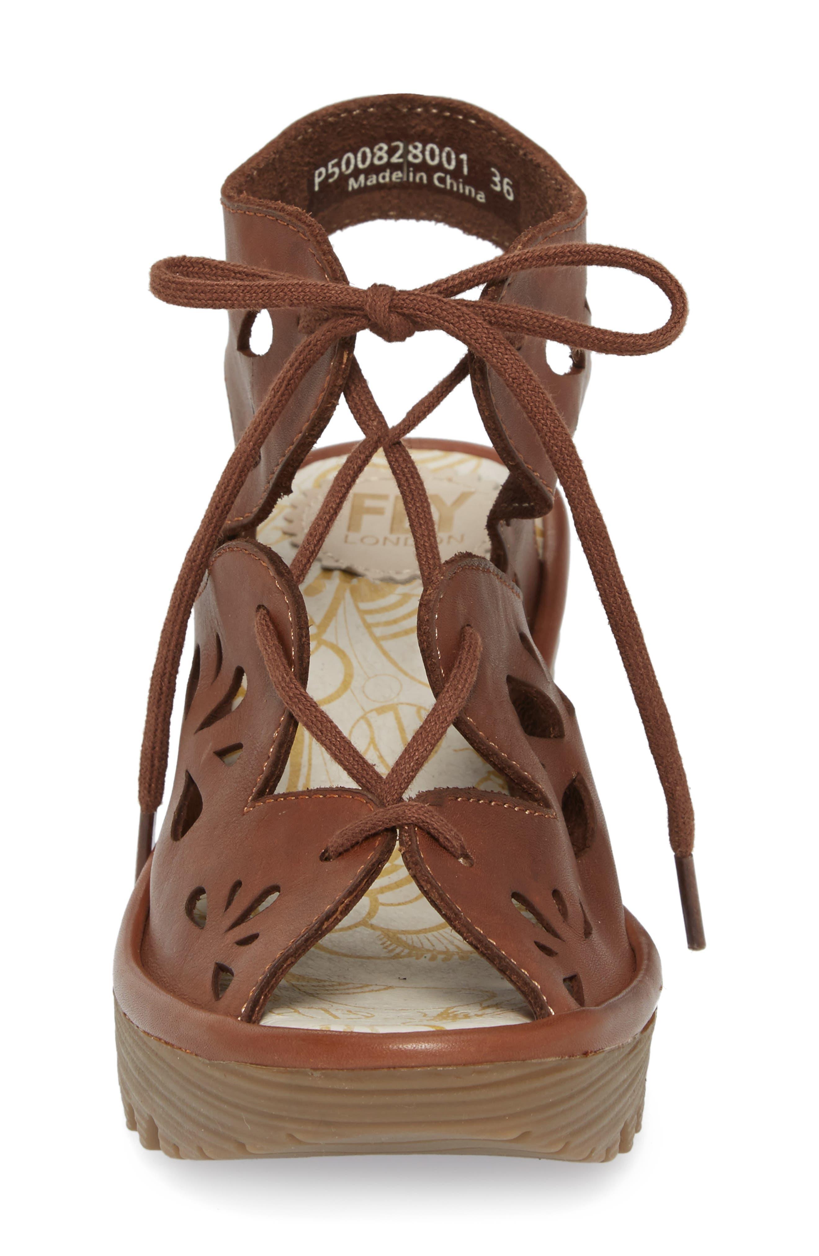 Yote Sandal,                             Alternate thumbnail 4, color,                             Brown Colmar Leather