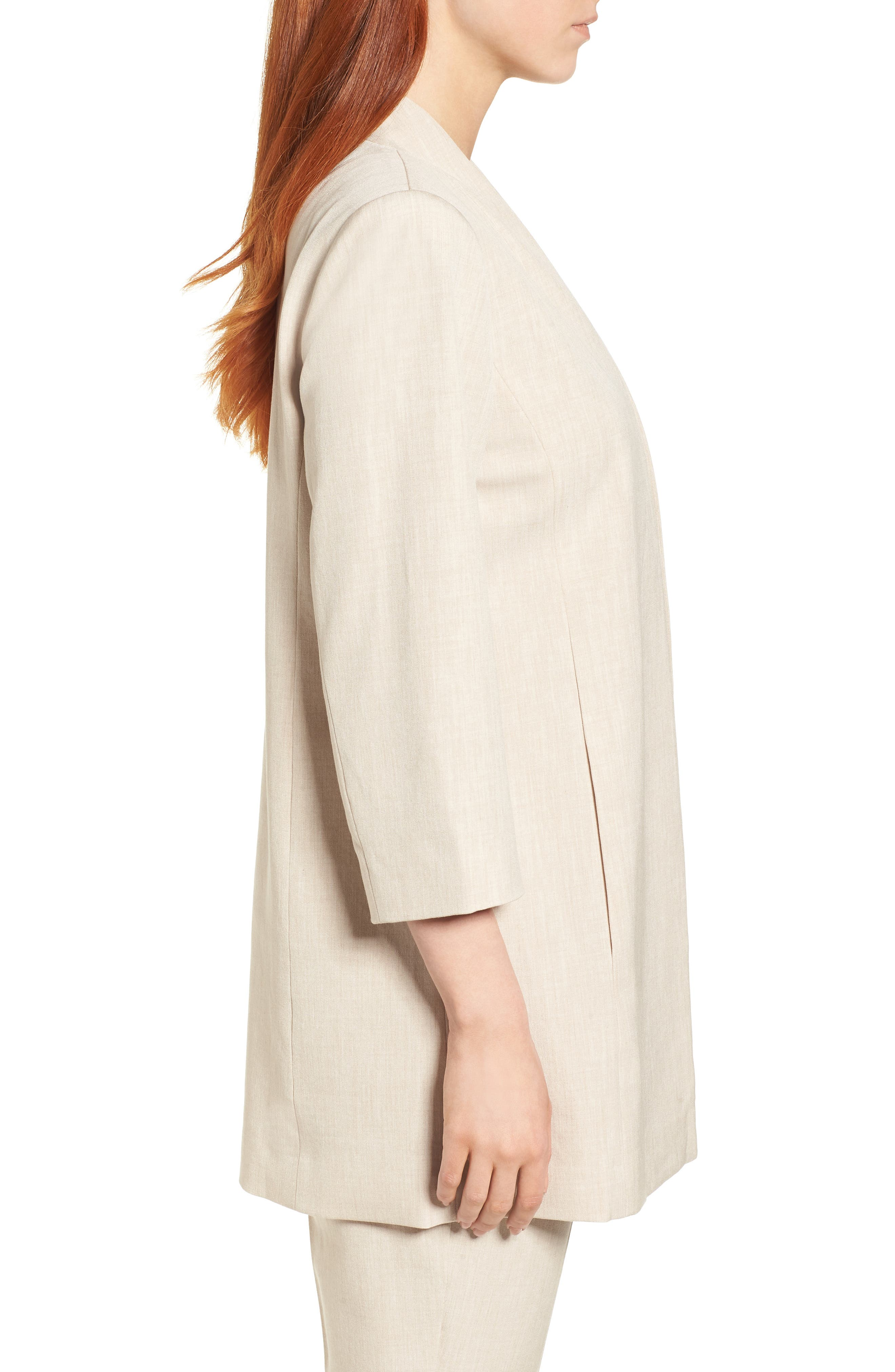 Alternate Image 3  - Eileen Fisher Long Open Front Jacket