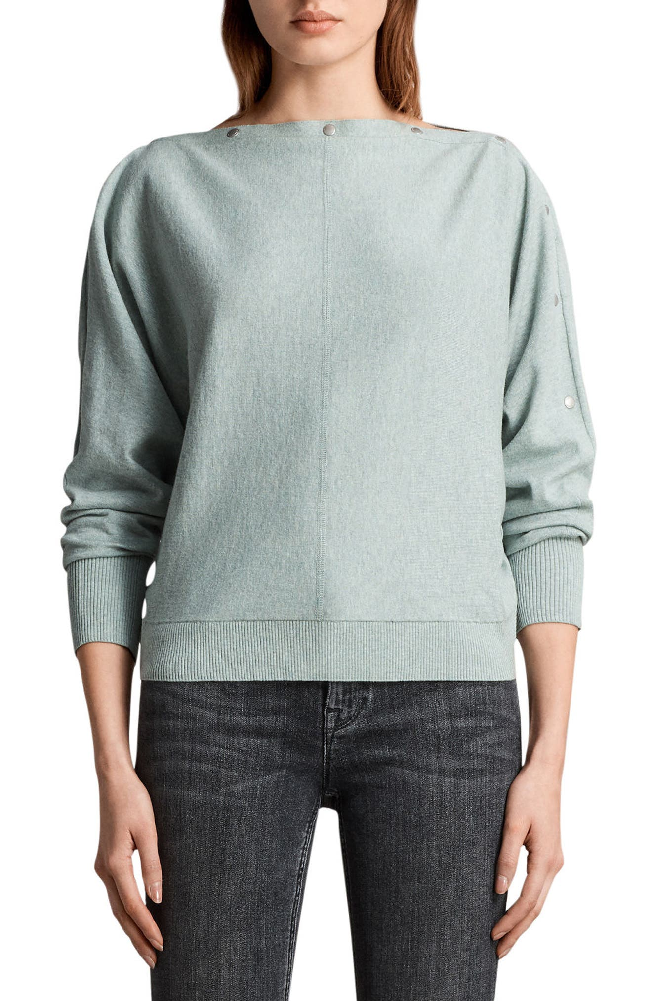 Elle Sweater,                             Main thumbnail 1, color,                             Mint Green