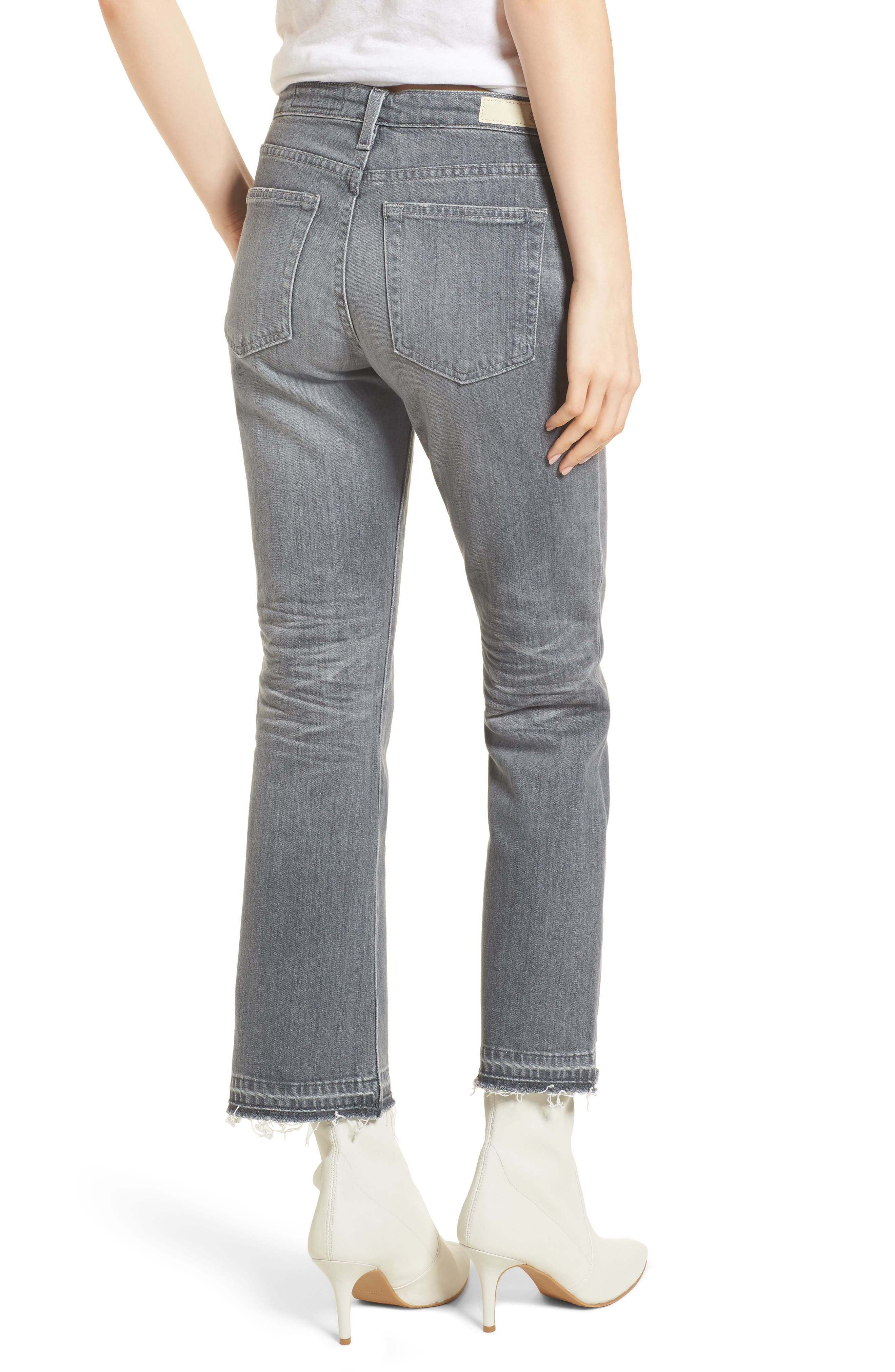 Alternate Image 2  - AG The Jodi Crop Flare Jeans (15 Years Grey Sulfur)