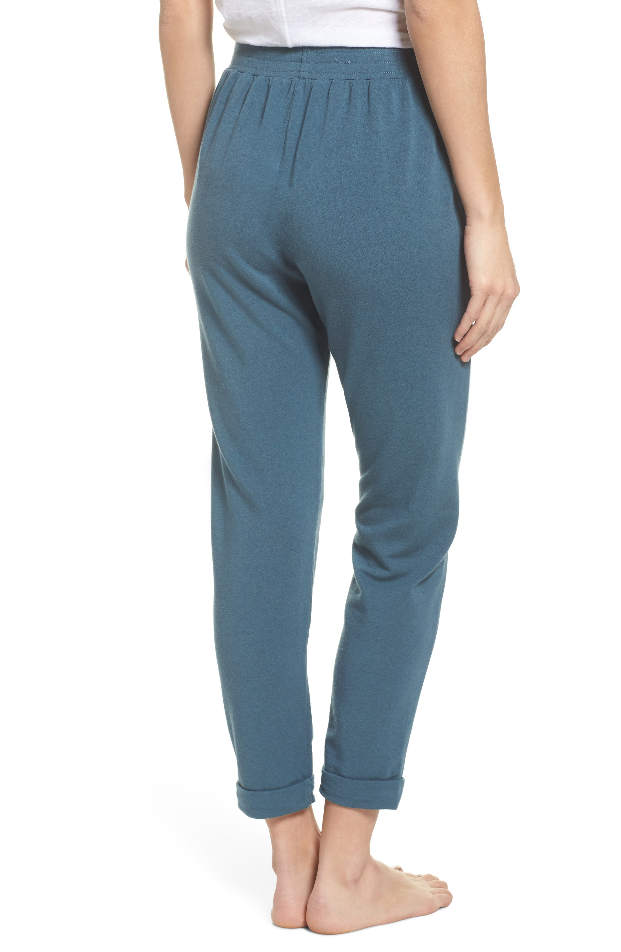 French Terry Sweatpants,                             Alternate thumbnail 2, color,                             Royal Teal