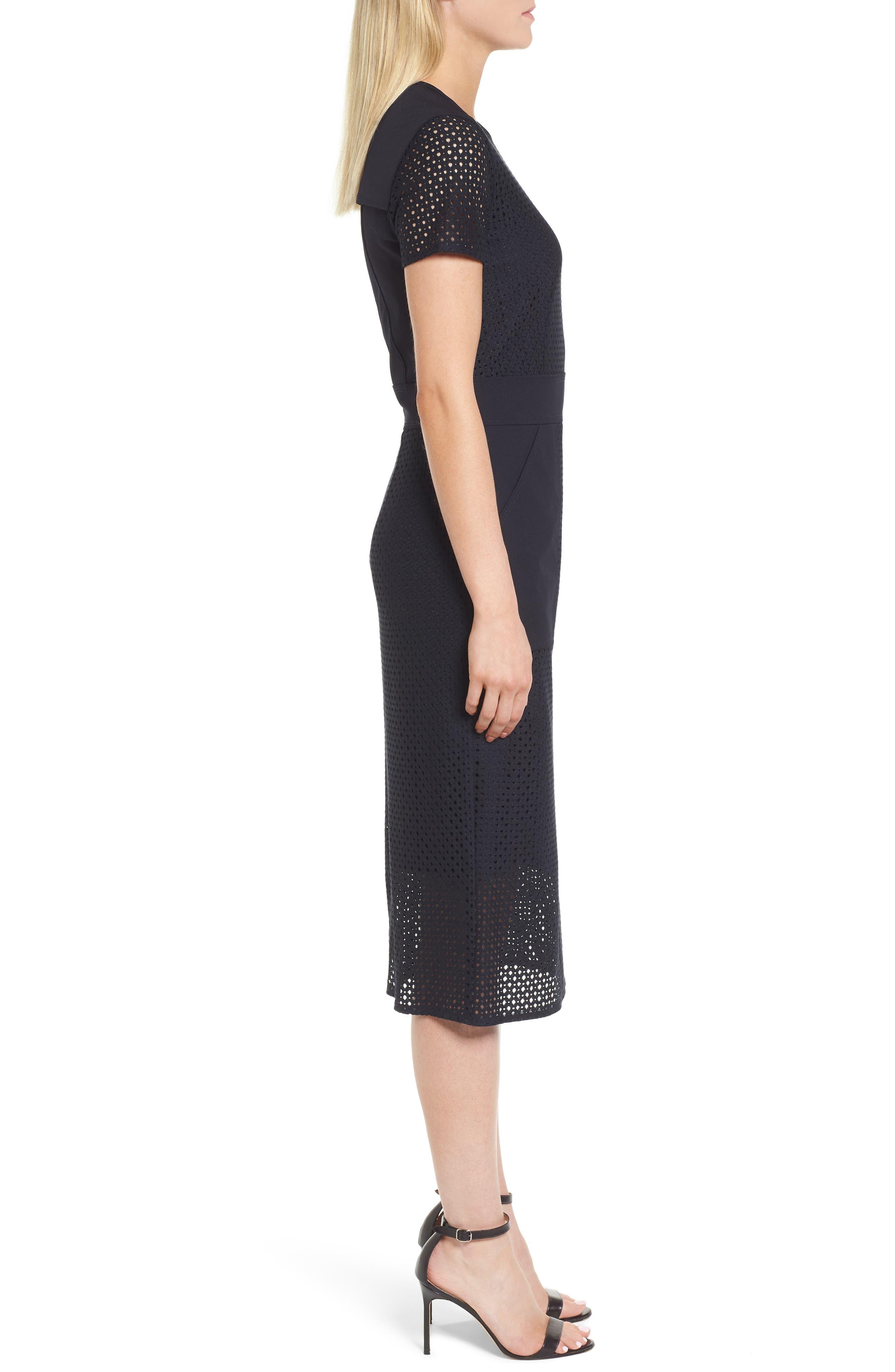 Damyla Sheath Dress,                             Alternate thumbnail 3, color,                             Navy