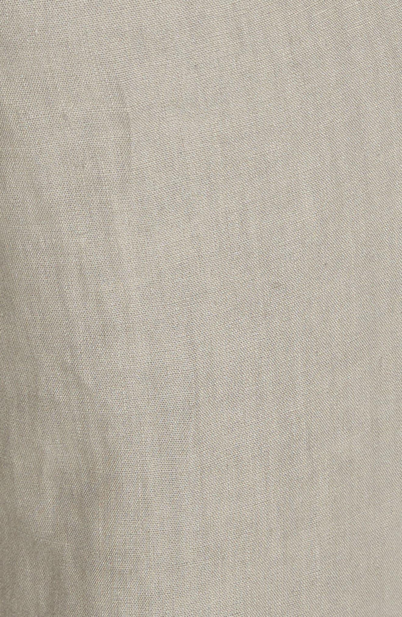 Fulton Linen Crop Pants,                             Alternate thumbnail 5, color,                             Fog