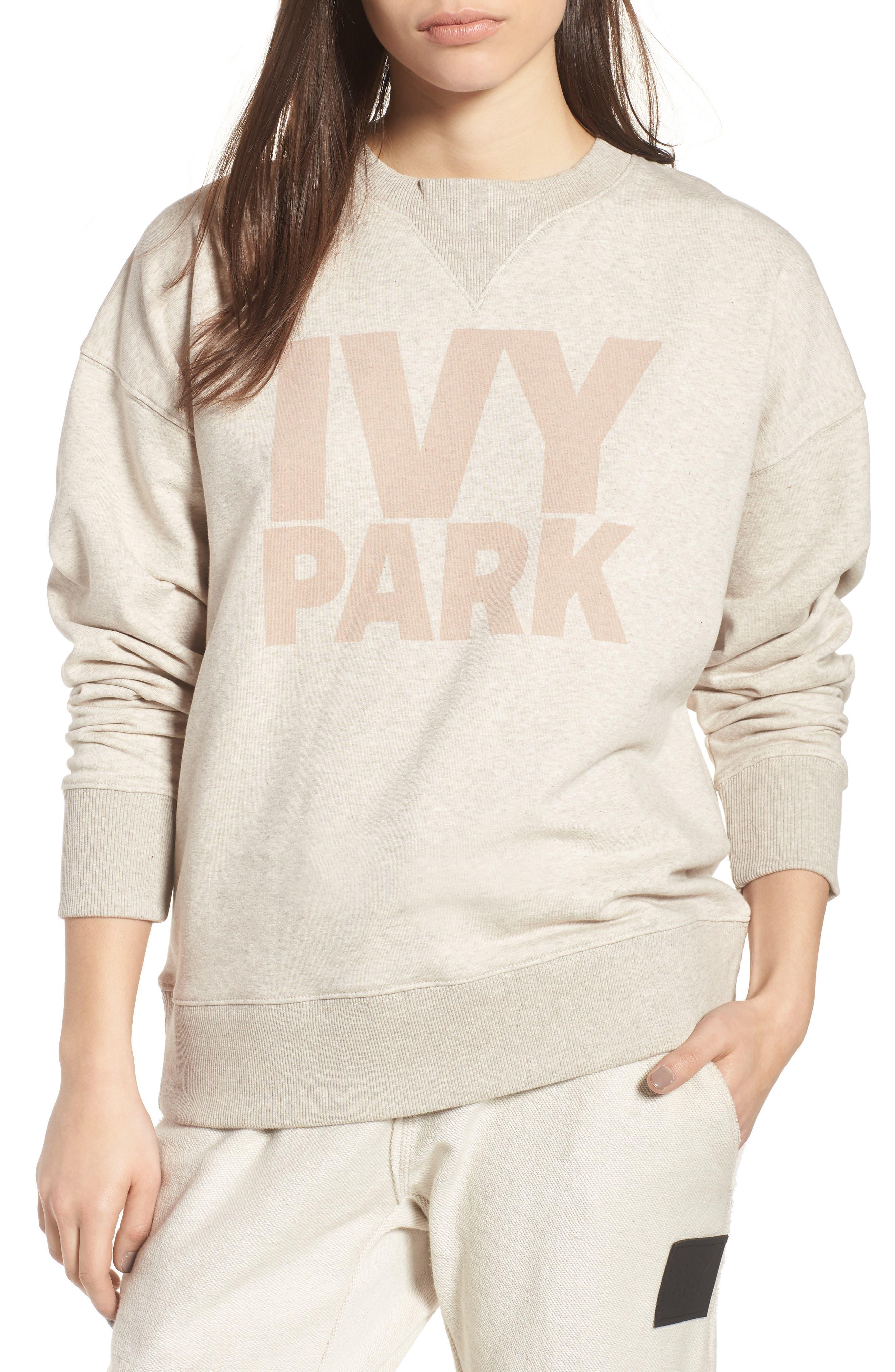 Logo Sweatshirt,                         Main,                         color, Oatmeal