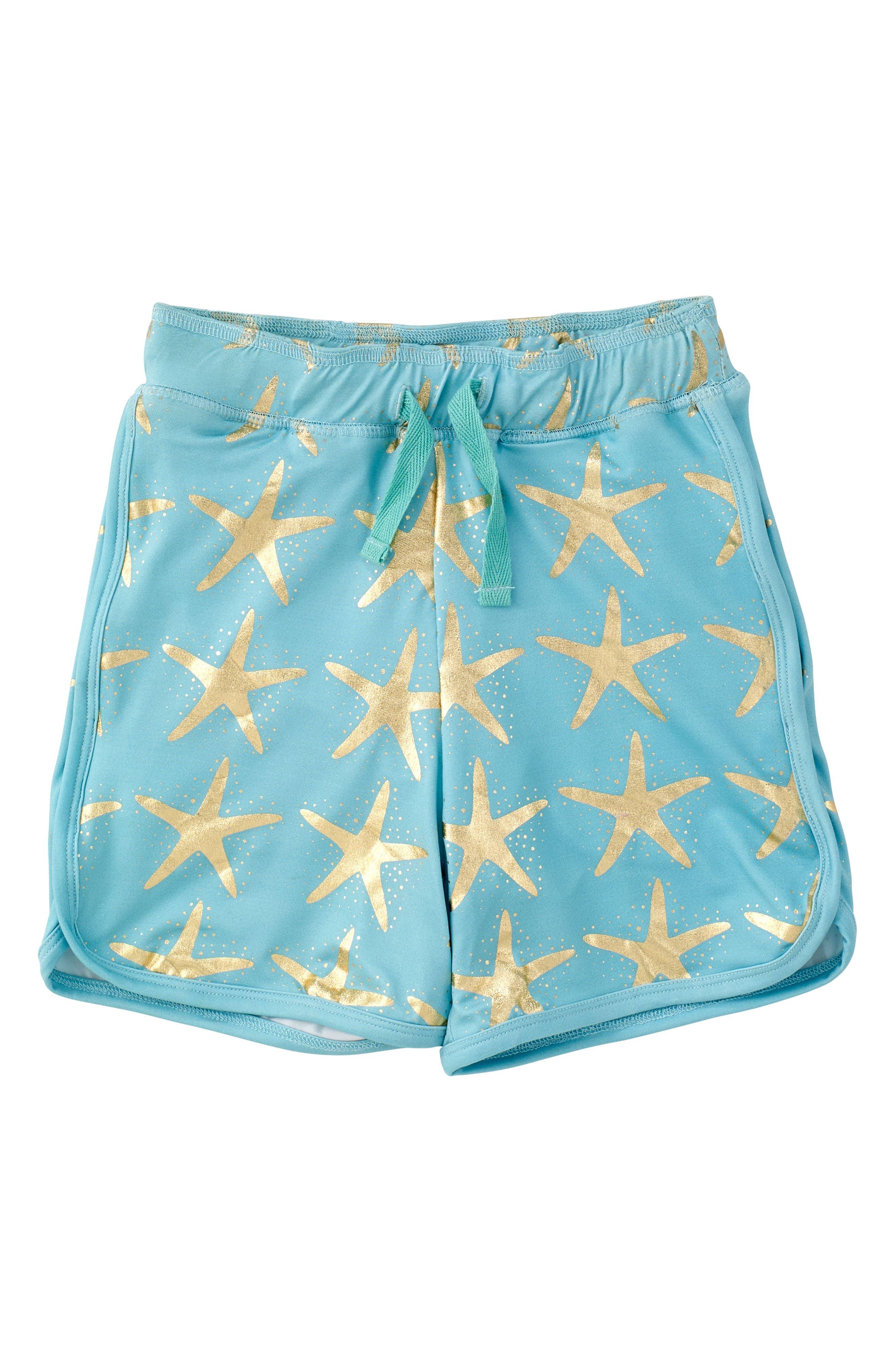 Starfish Swim Trunks,                             Main thumbnail 1, color,                             Turquoise